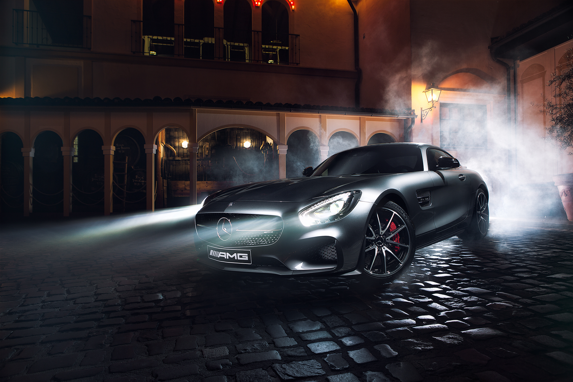 107993 download wallpaper Night, Cars, Side View, Amg, Mercedes-Benz, Gt S screensavers and pictures for free