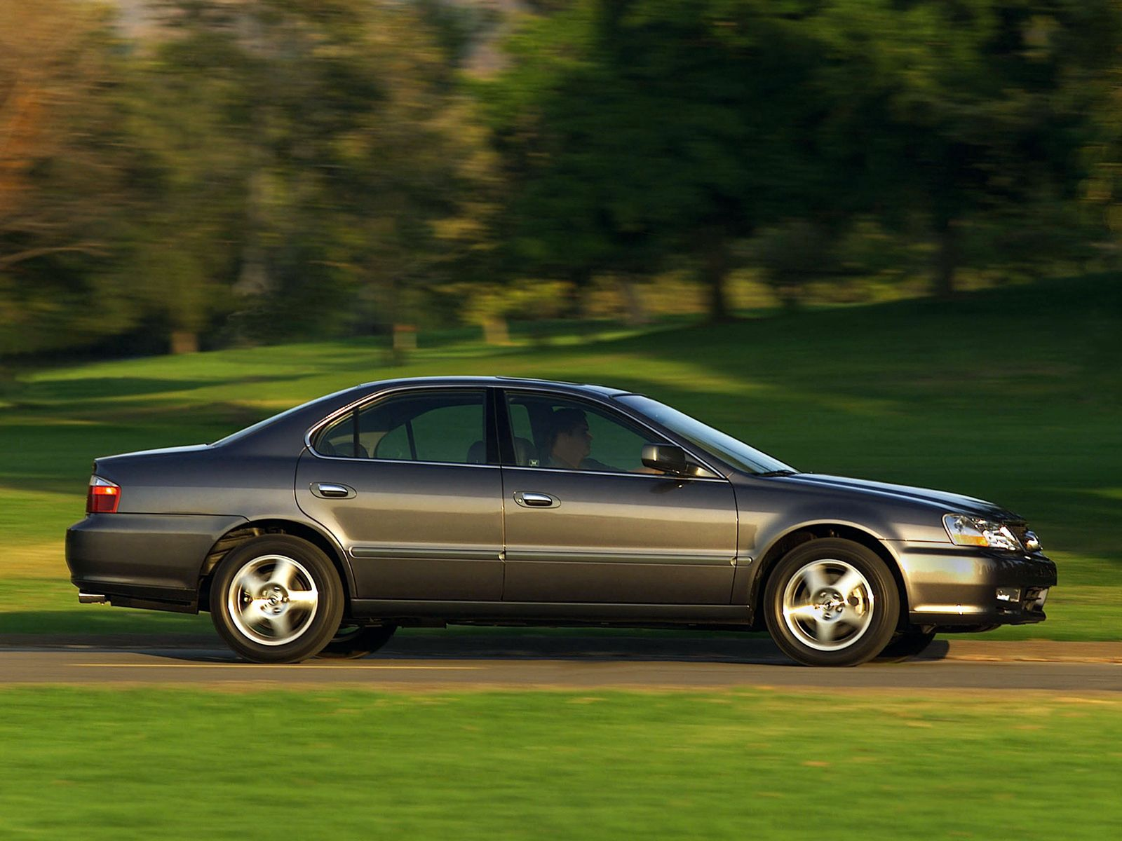 120721 download wallpaper Cars, Acura, Akura, 2002, Side View, Style, Auto, Tl, Speed, Nature, Trees, Grass screensavers and pictures for free
