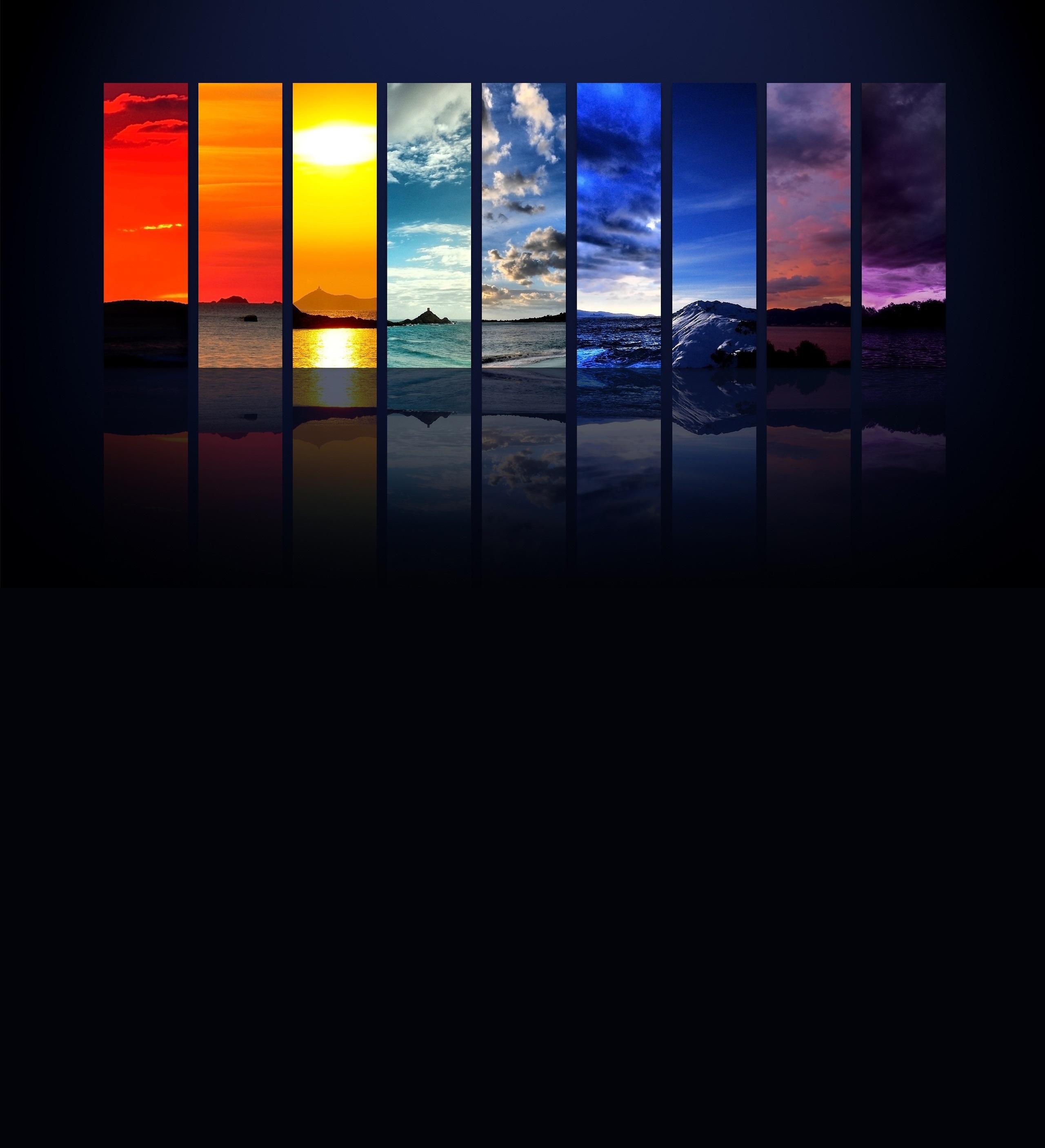 免费下载彩虹, 景观, 背景手机壁纸。