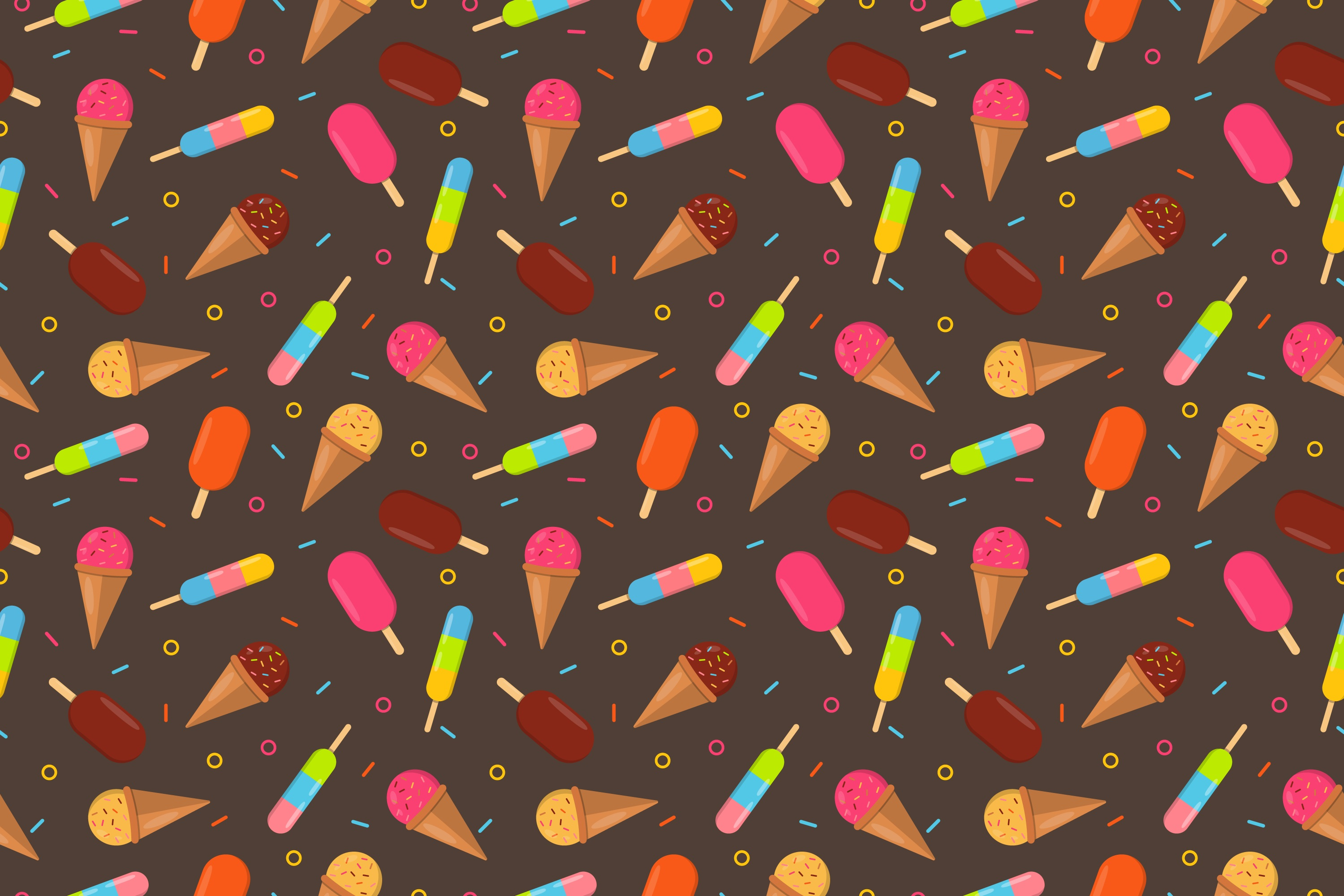 123096 Screensavers and Wallpapers Multicolored for phone. Download Multicolored, Ice Cream, Patterns, Vector, Motley, Texture pictures for free