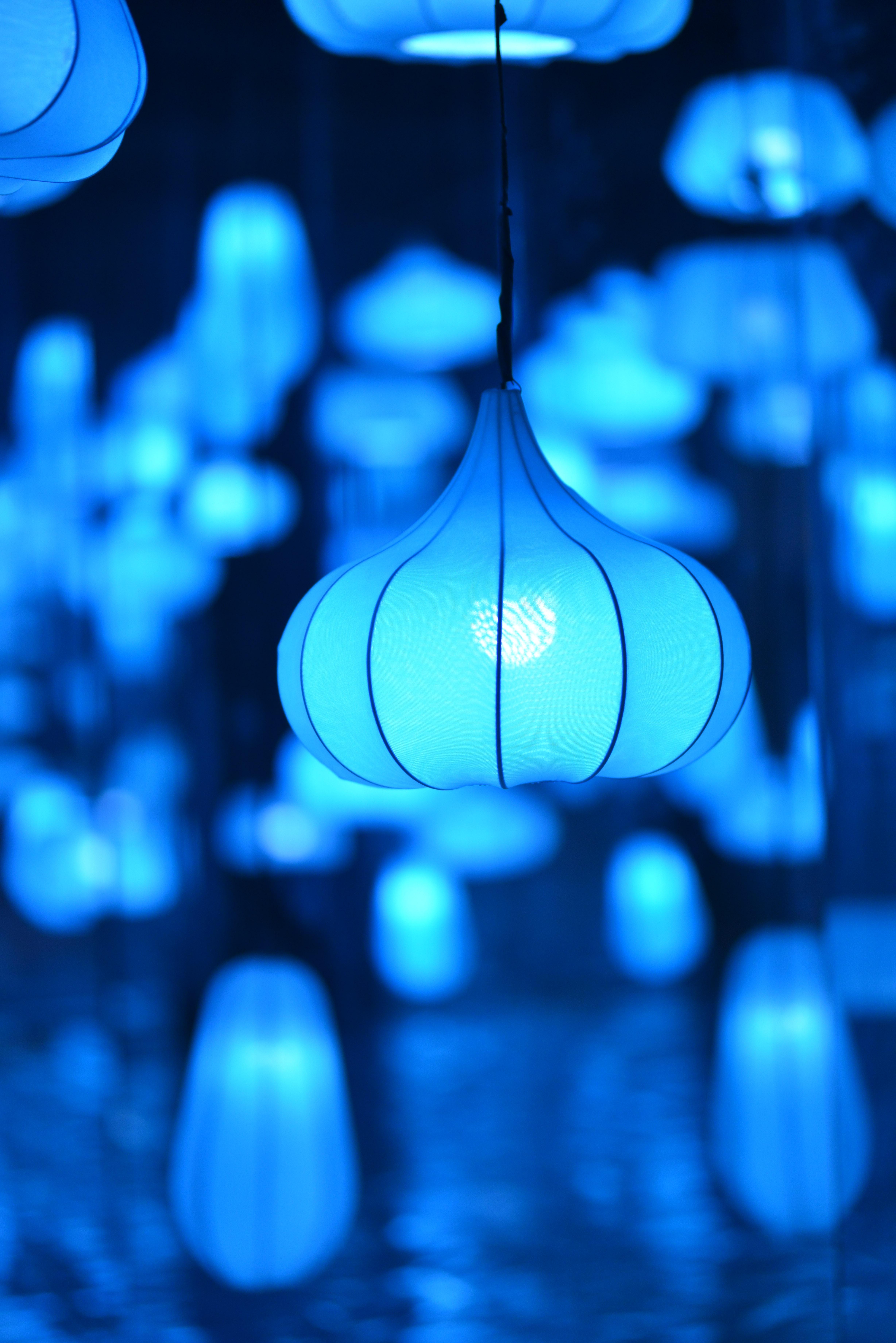 119953 скачать обои Голубой, Разное, Лампа, Освещение, Светильник, Абажур - заставки и картинки бесплатно