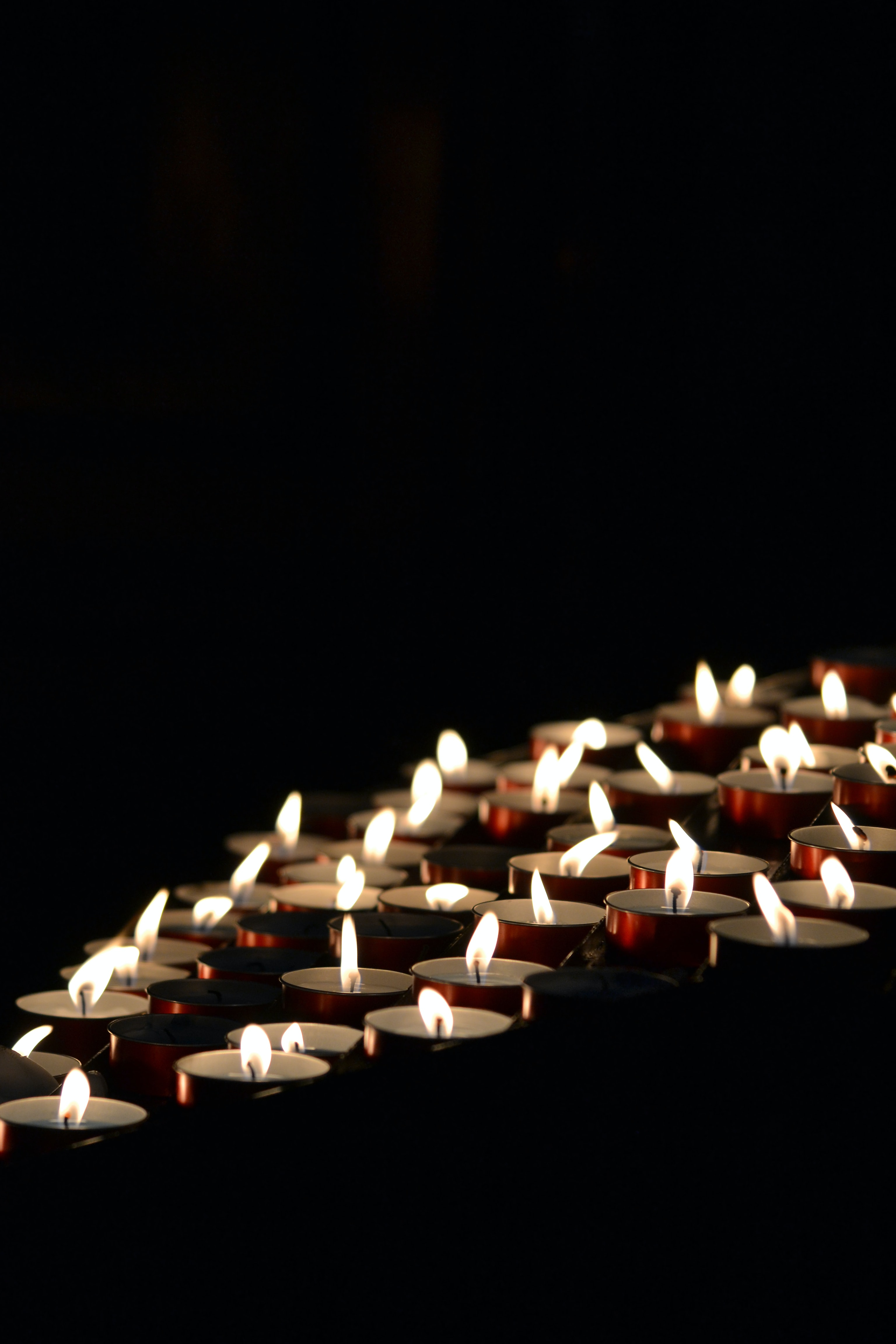 95583 Screensavers and Wallpapers Candles for phone. Download Fire, Candles, Dark, Darkness pictures for free