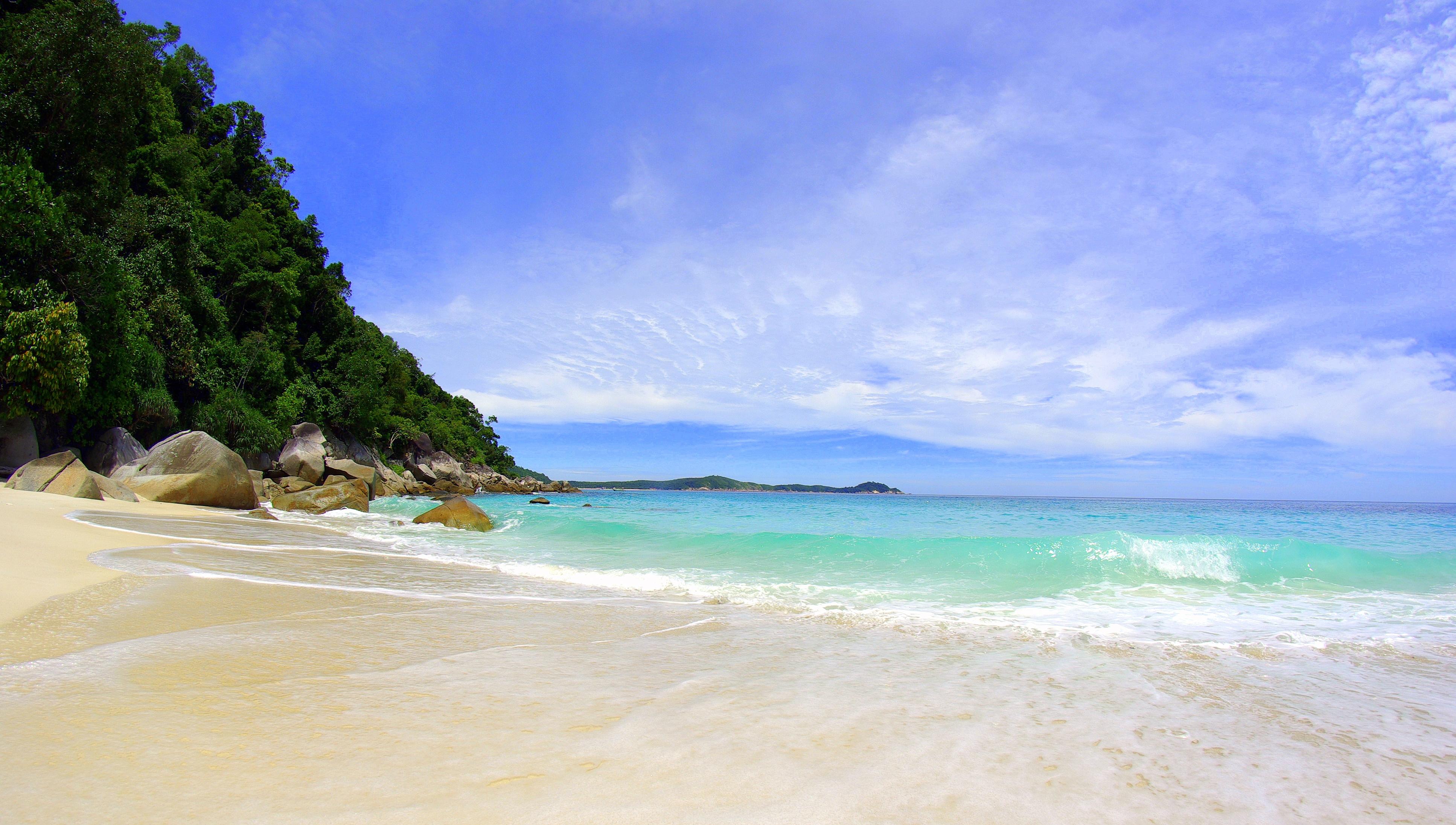 93318 скачать обои Природа, Тропики, Пляж, Море - заставки и картинки бесплатно