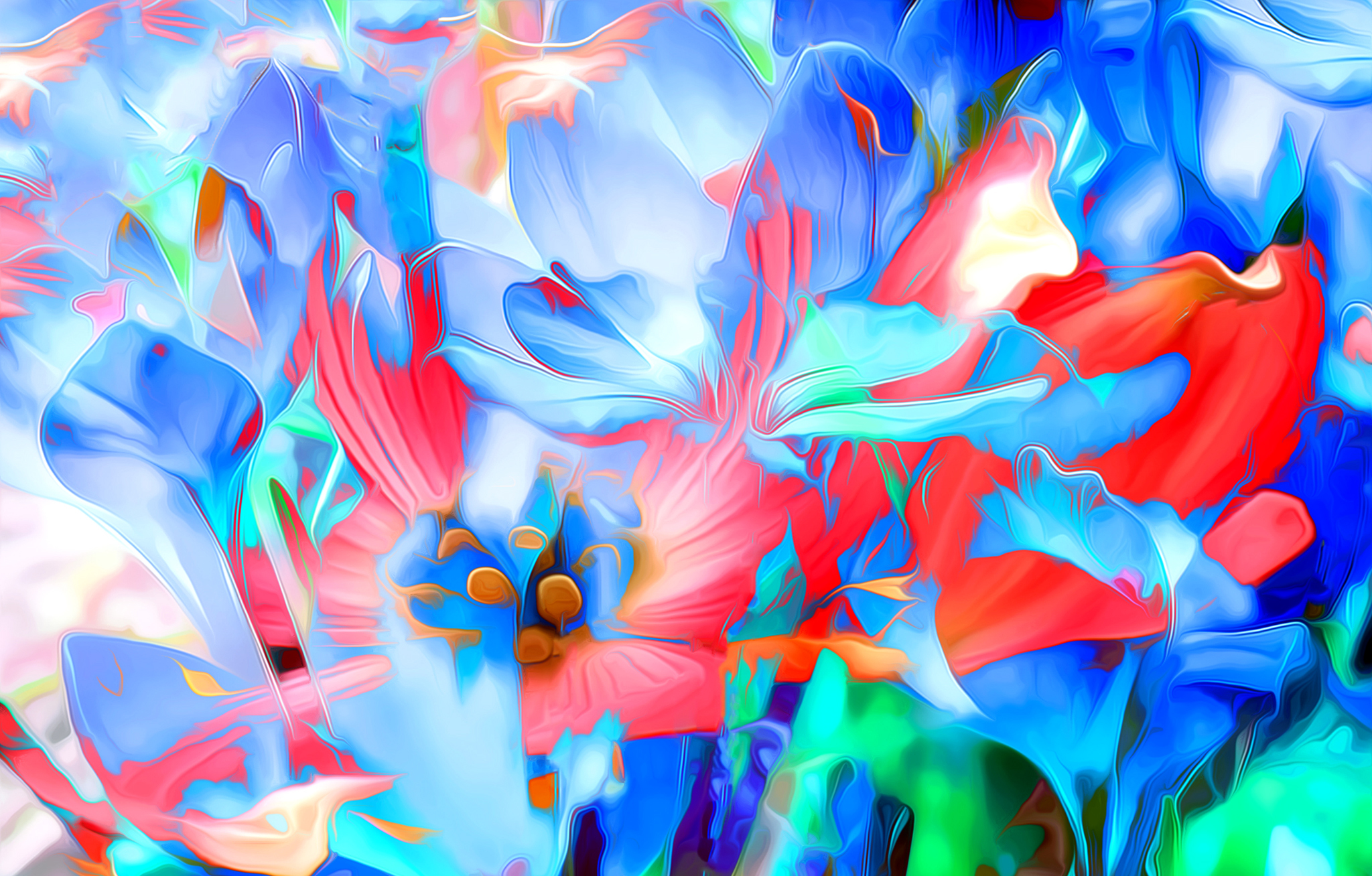 123818 Screensavers and Wallpapers Bright for phone. Download Abstract, Flowers, Art, Bright, Lines, Rendering pictures for free
