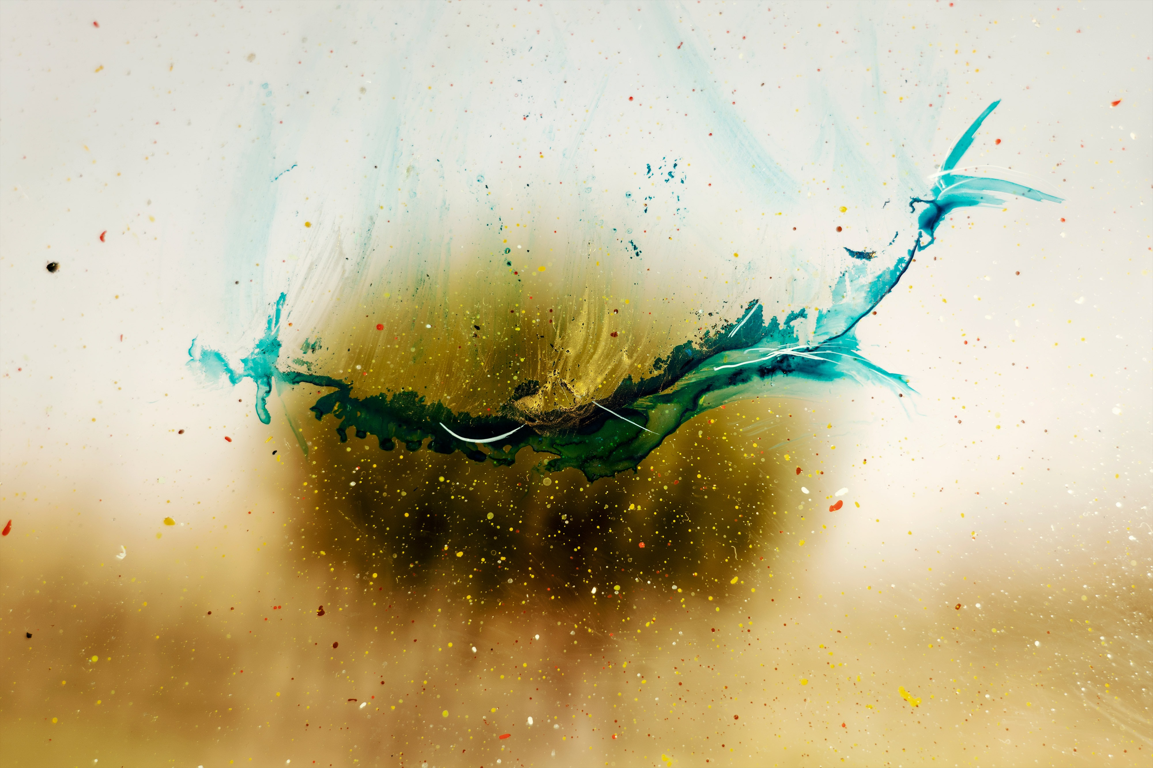 144382 download wallpaper Abstract, Paint, Drops, Divorces, Blur, Smooth screensavers and pictures for free