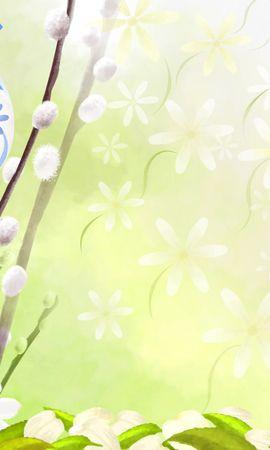 11740 скачать обои Праздники, Цветы, Пасха, Рисунки - заставки и картинки бесплатно
