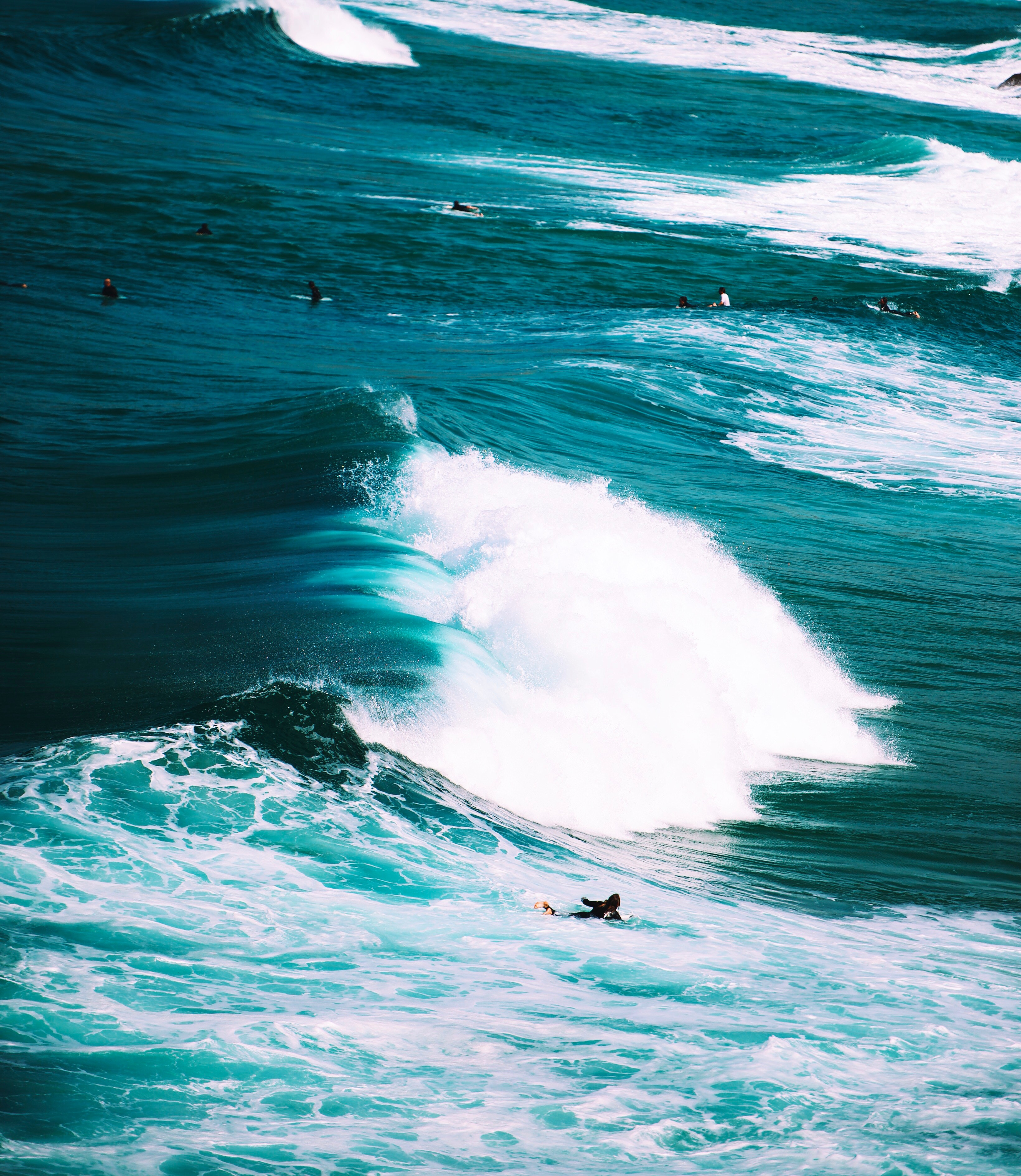 65666 download wallpaper Nature, Ocean, Serfing, Surf, Foam, Waves screensavers and pictures for free