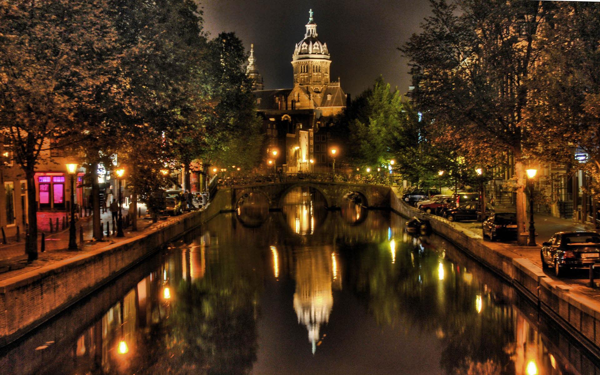 15222 скачать обои Города, Река, Ночь, Архитектура - заставки и картинки бесплатно