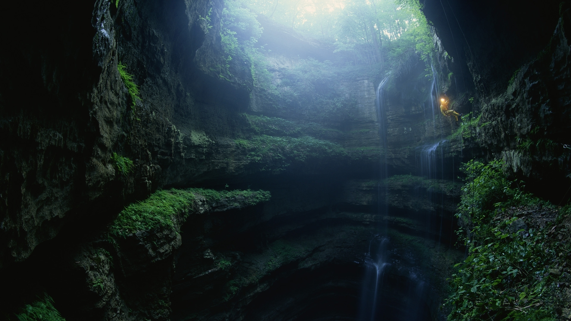 29471 download wallpaper Landscape, Caves, Waterfalls screensavers and pictures for free