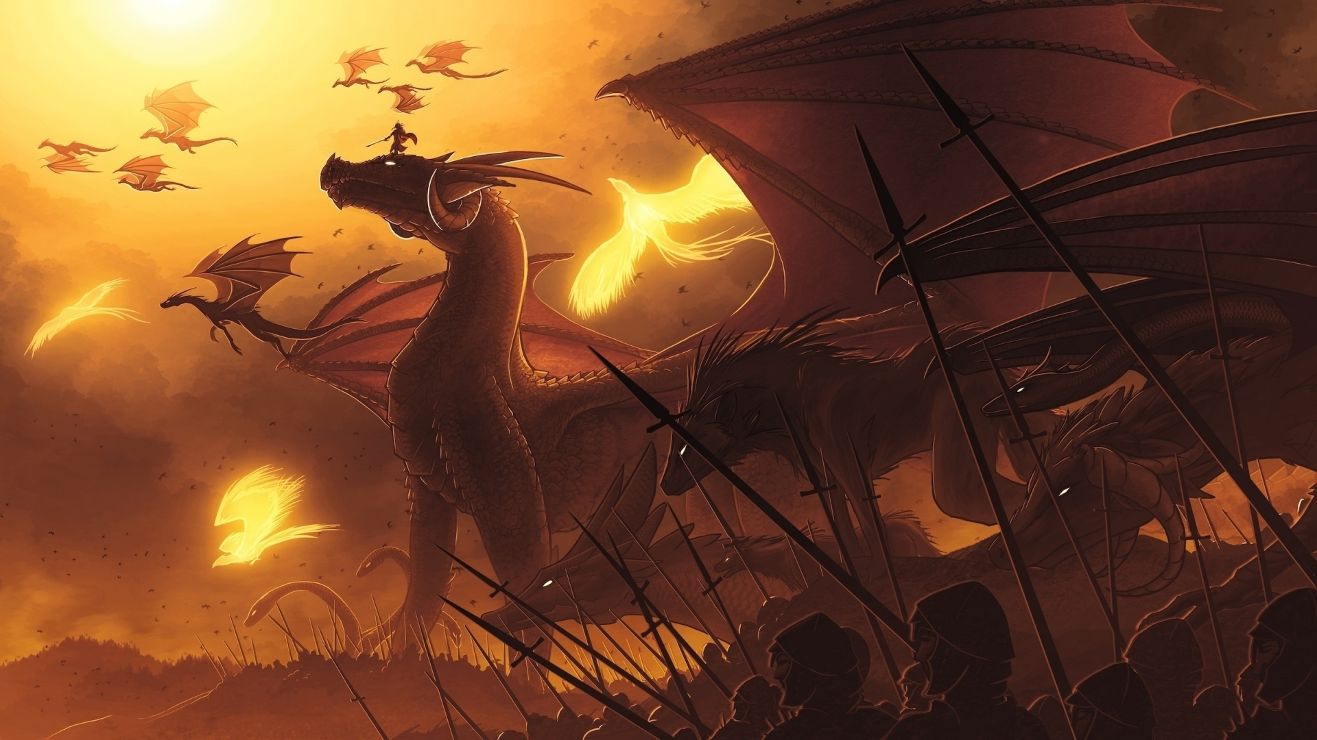 23779 download wallpaper Fantasy, Dragons screensavers and pictures for free