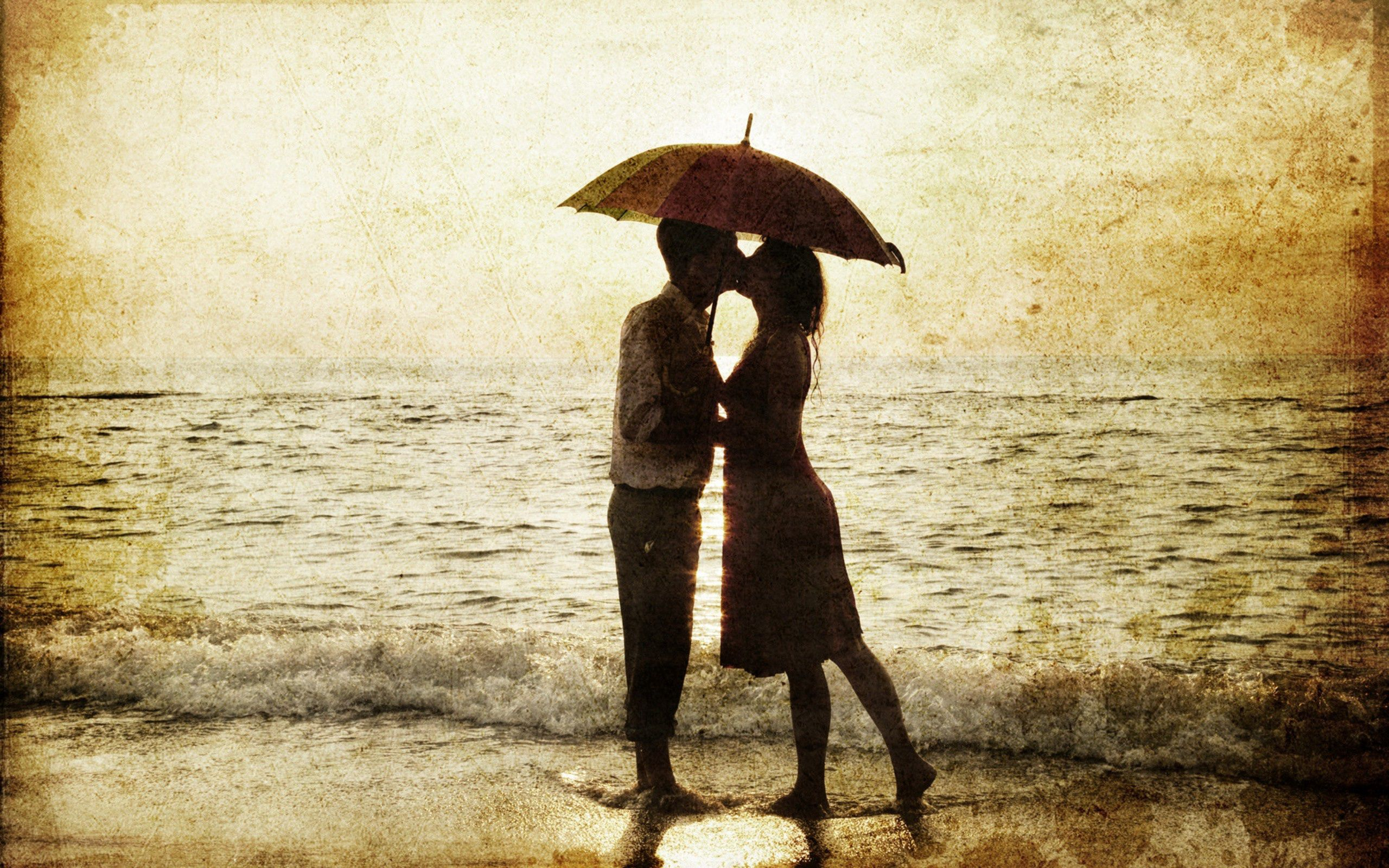 110773 Screensavers and Wallpapers Guy for phone. Download Rain, Sea, Love, Silhouettes, Girl, Romance, Surf, Guy pictures for free