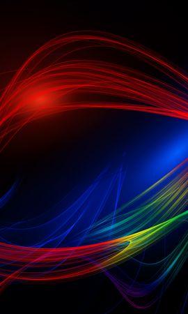 137307 скачать обои Абстракция, Линии, Волнистый, Разноцветный, Сплетения - заставки и картинки бесплатно