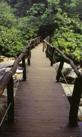 139 скачать обои Пейзаж, Река, Мосты, Деревья, Камни - заставки и картинки бесплатно