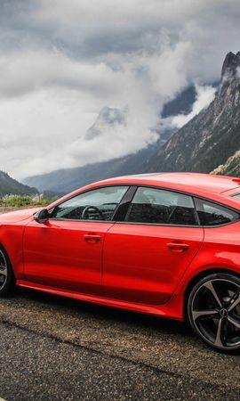 126614 télécharger le fond d'écran Voitures, Audi, Rs7, Vue De Côté, Montagnes - économiseurs d'écran et images gratuitement