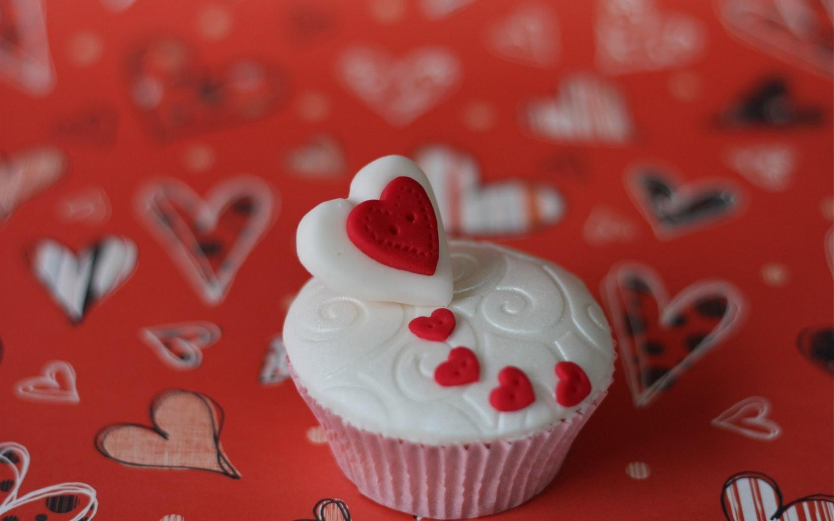 16561 скачать обои Еда, Сердца, Десерты, Любовь, День Святого Валентина (Valentine's Day) - заставки и картинки бесплатно