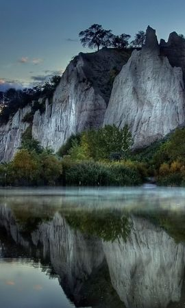 22066 скачать обои Пейзаж, Река, Деревья, Горы - заставки и картинки бесплатно
