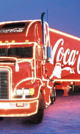 19600 descargar fondo de pantalla Transporte, Automóvil, Marcas, Invierno, Coca-Cola, Camiones: protectores de pantalla e imágenes gratis