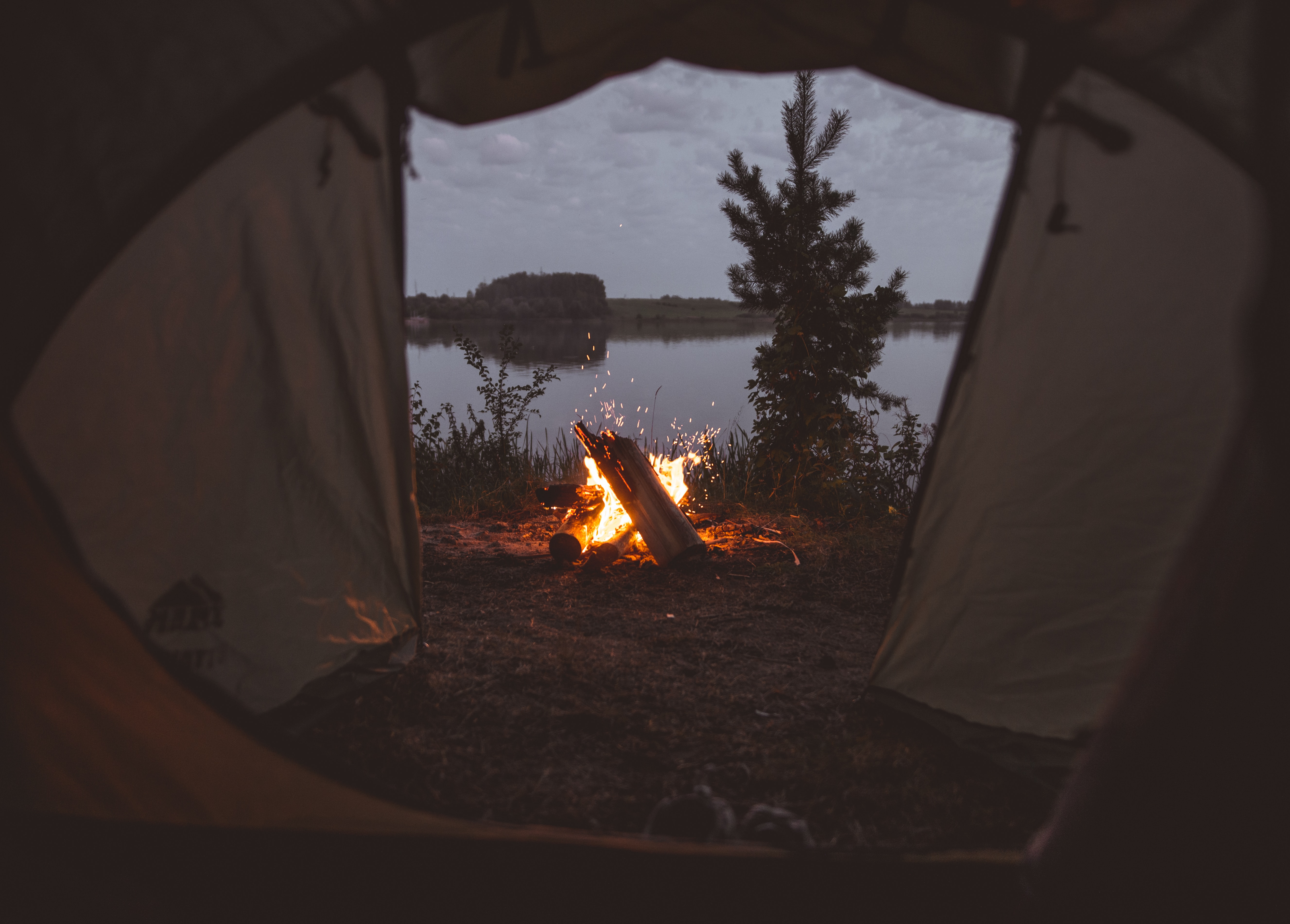 89372 Screensavers and Wallpapers Bonfire for phone. Download Fire, Bonfire, Dark, Sparks, Tent, Camping, Campsite pictures for free