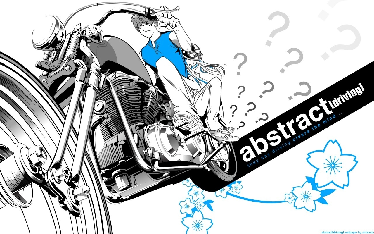 4293 скачать обои Аниме, Мотоциклы - заставки и картинки бесплатно