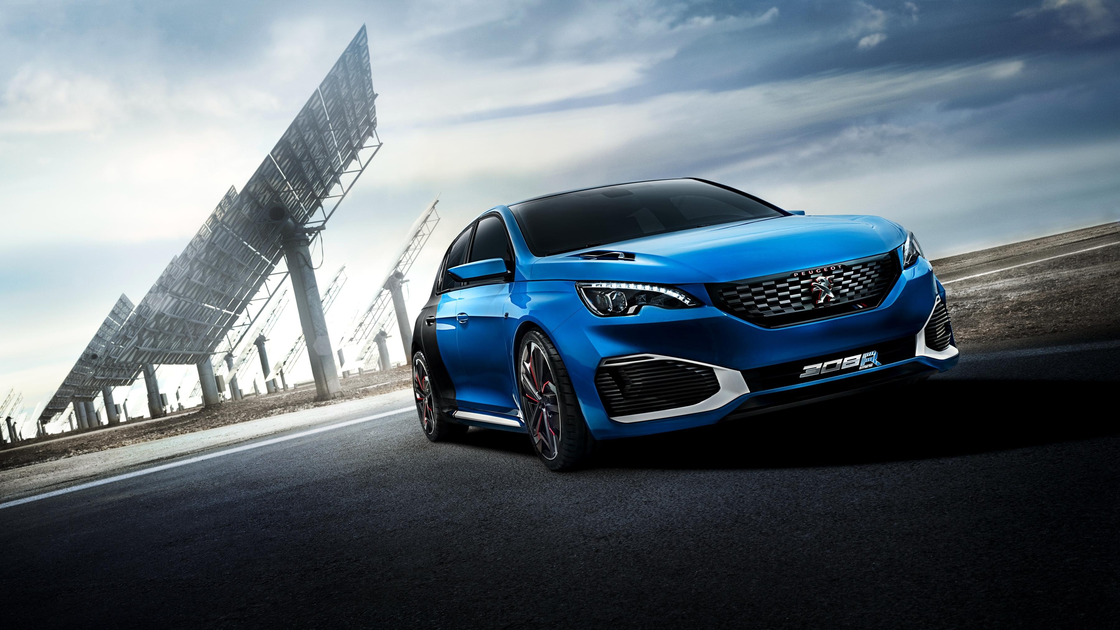 80481 скачать обои Пежо (Peugeot), Тачки (Cars), Синий, Вид Сбоку, Hybrid, 308 R - заставки и картинки бесплатно