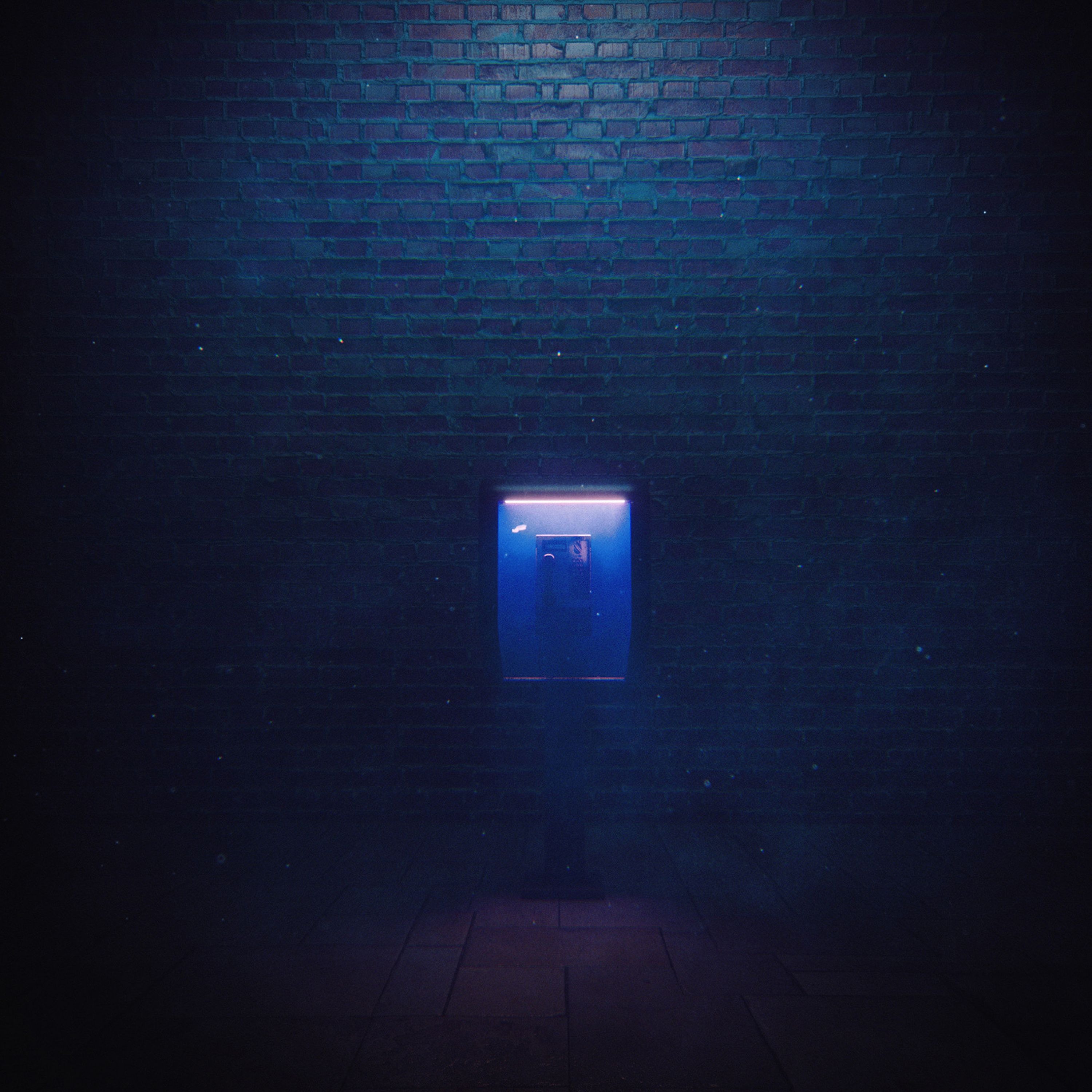 100669 download wallpaper Night, Dark, Miscellanea, Miscellaneous, Wall, Backlight, Illumination, Darkly, Telephone, Emptiness, Void screensavers and pictures for free