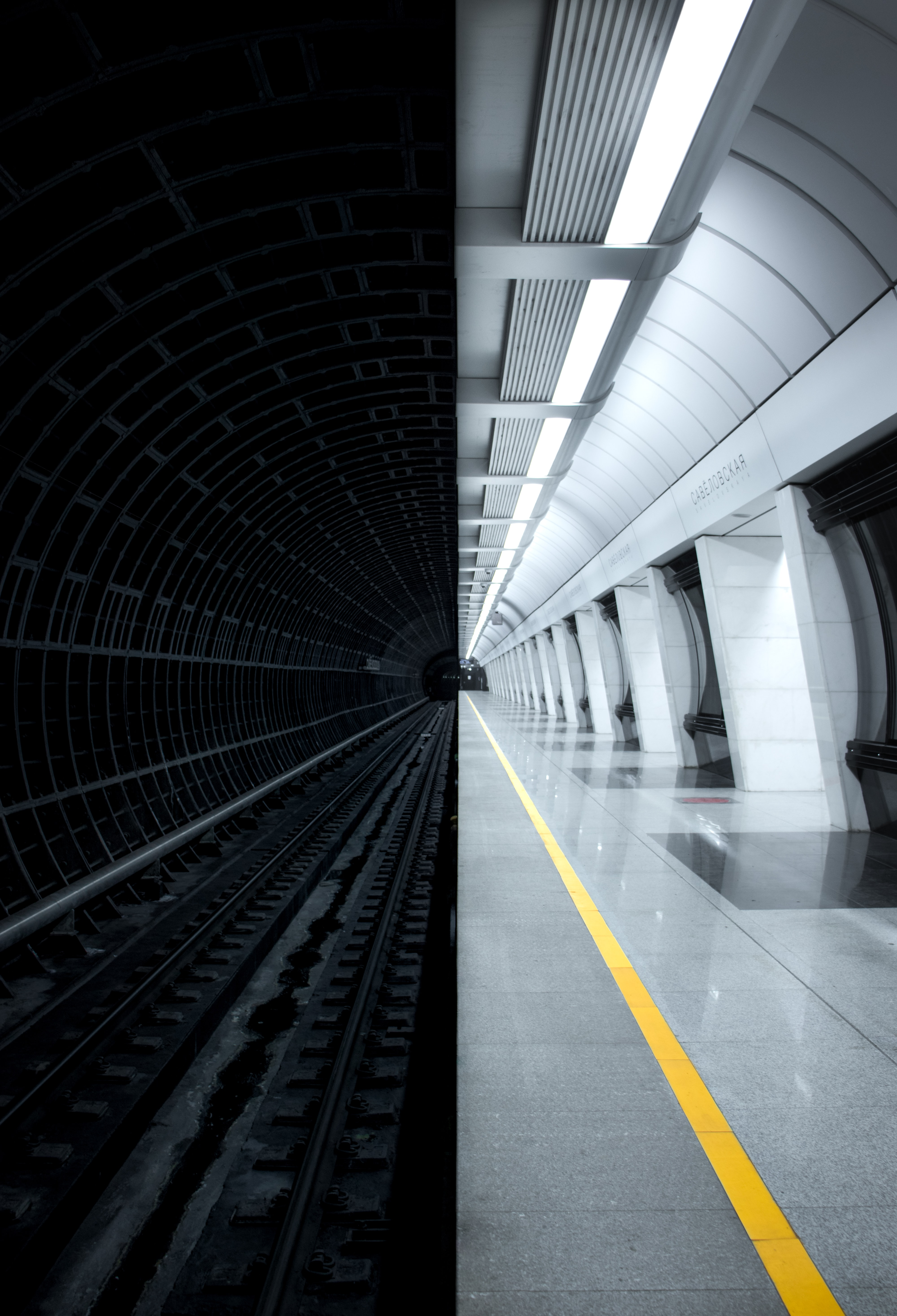 156192 Screensavers and Wallpapers Metro for phone. Download Miscellanea, Miscellaneous, Dahl, Distance, Tunnel, Metro, Subway pictures for free