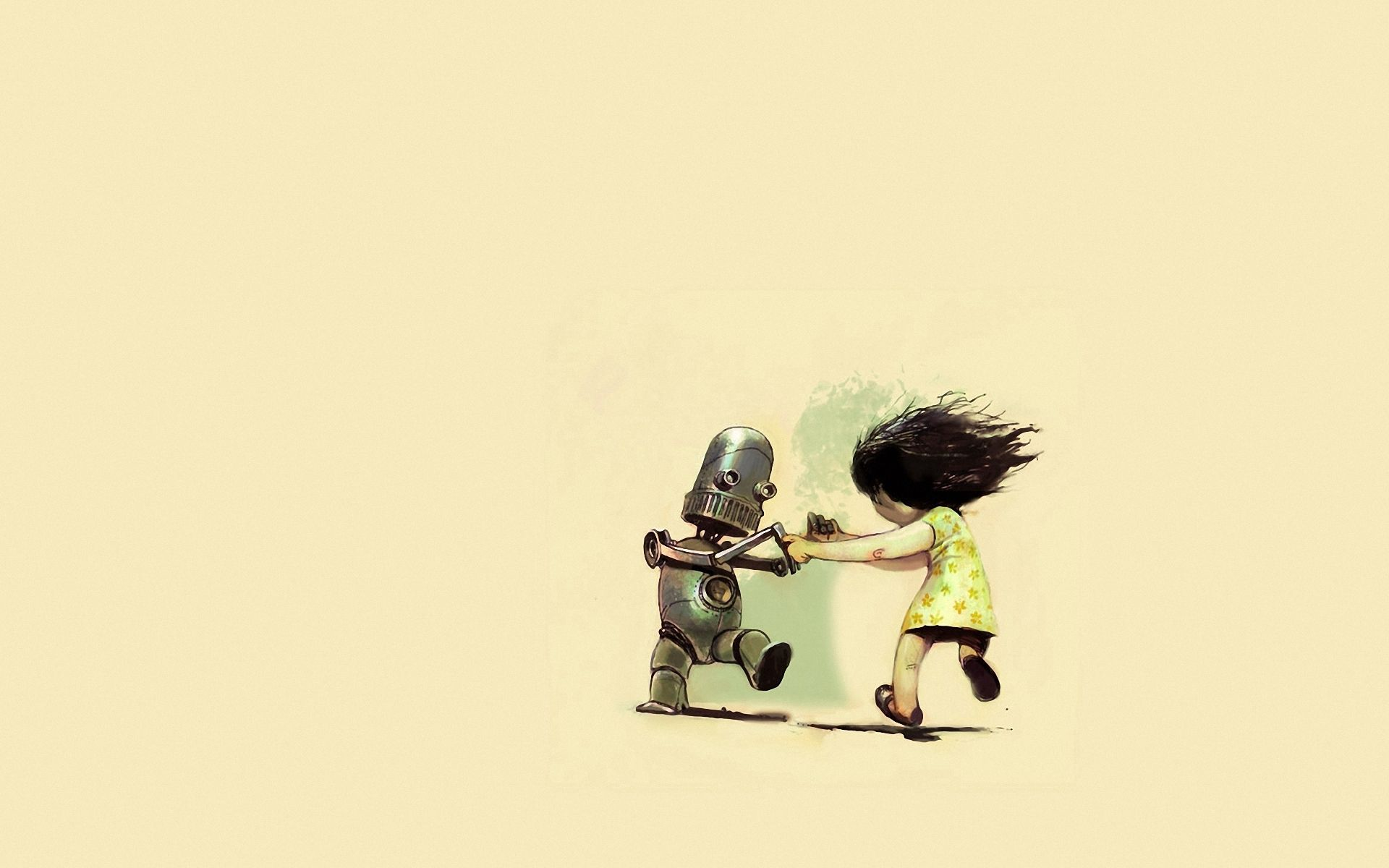 144265 Screensavers and Wallpapers Robot for phone. Download Art, Dance, Girl, Robot pictures for free