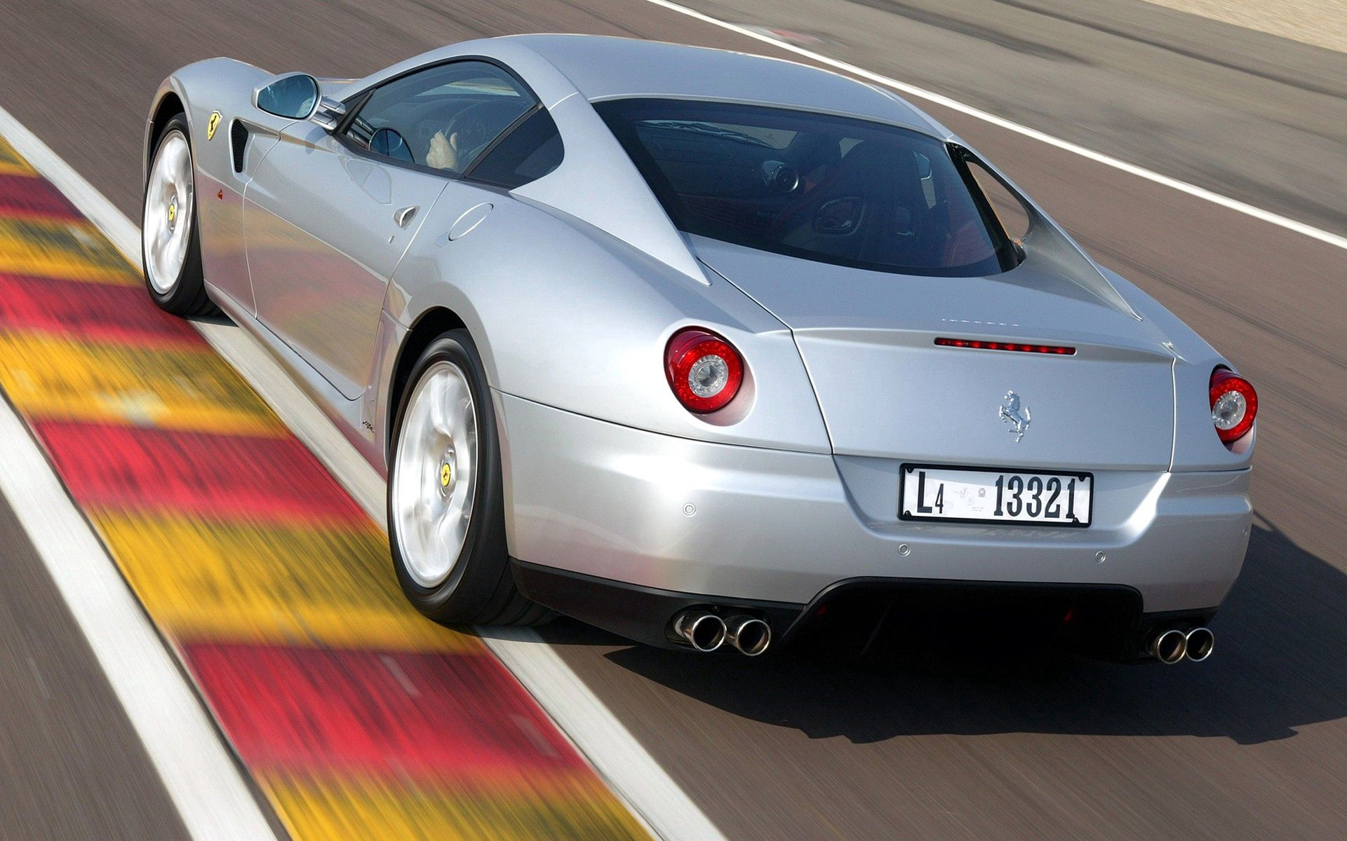 79560 download wallpaper Cars, Ferrari, Grey, Back View, Rear View, Style screensavers and pictures for free
