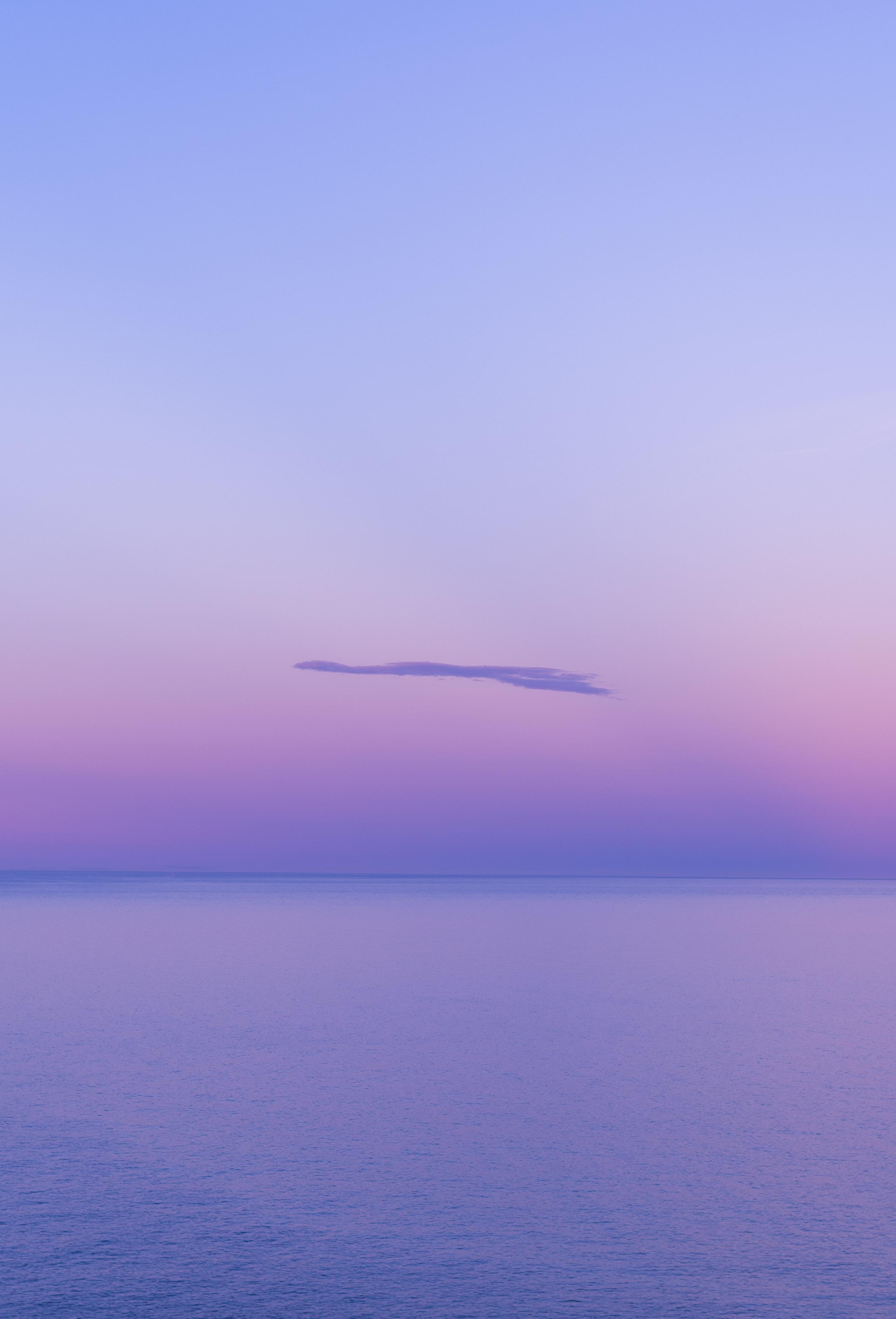 62616 免費下載壁紙 性质, 水, 云, 云端, 地平线, 紫色的, 品红色, 阴霾, 雾霾 屏保和圖片
