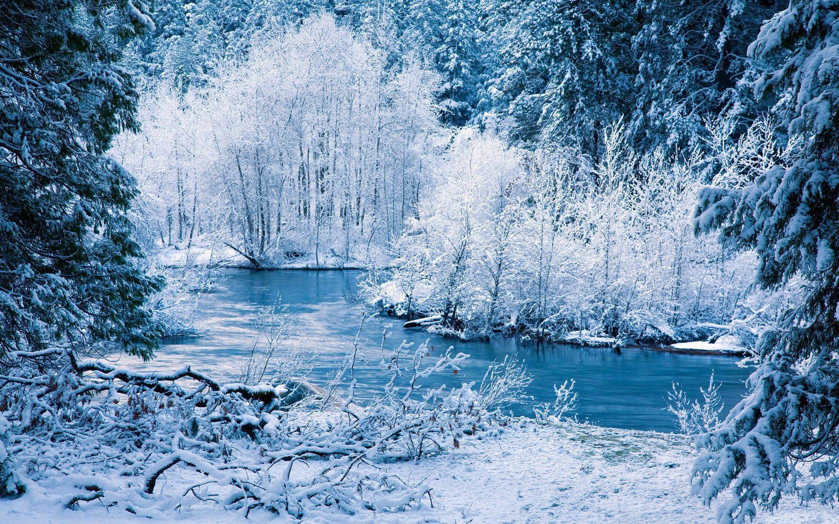 121259 скачать обои Зима, Пейзаж, Природа, Деревья, Река, Снег - заставки и картинки бесплатно