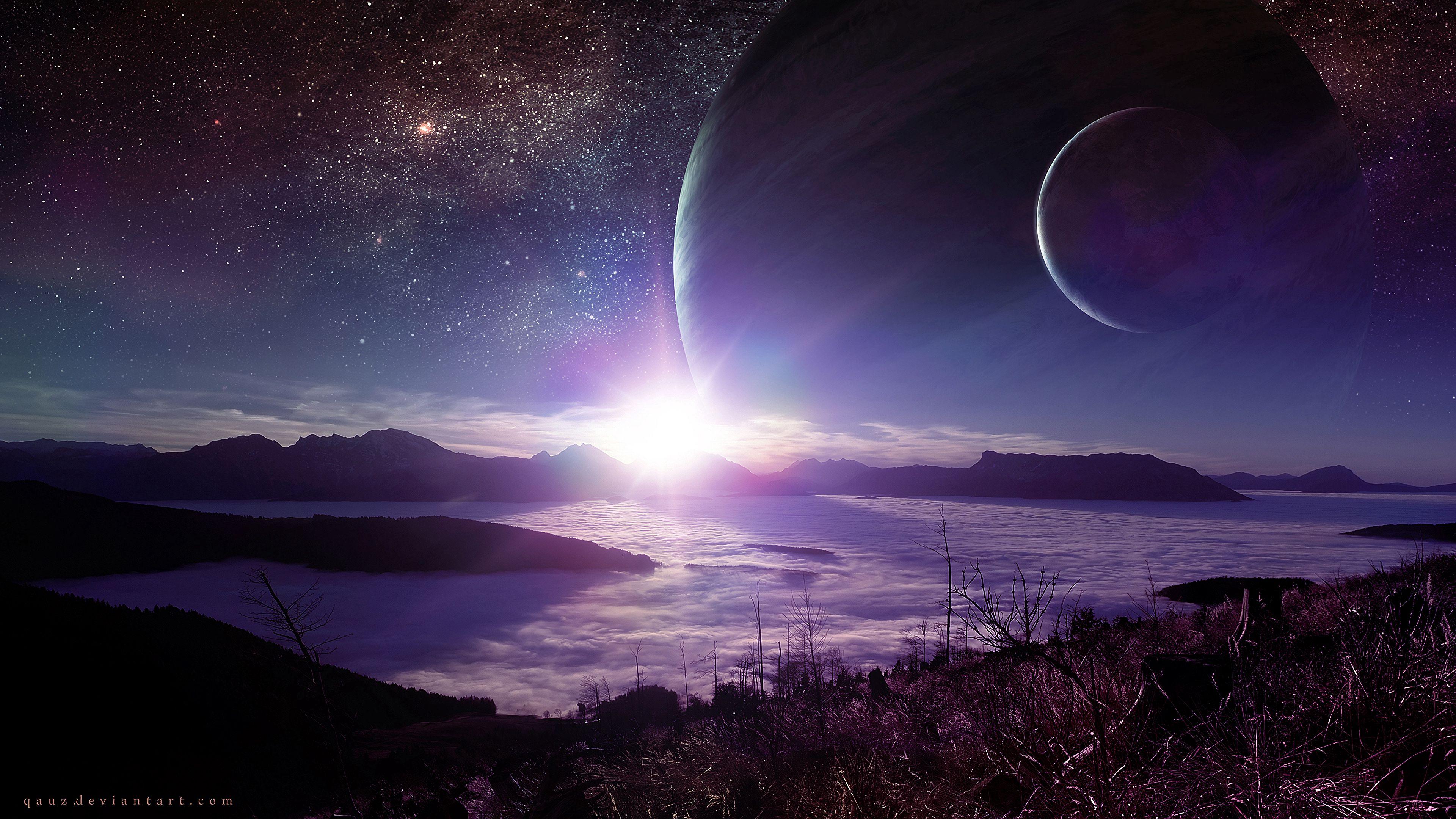 140634 télécharger le fond d'écran Planète, Éclat, Flash, Shining, Extraterrestre, Paysage, Univers - économiseurs d'écran et images gratuitement