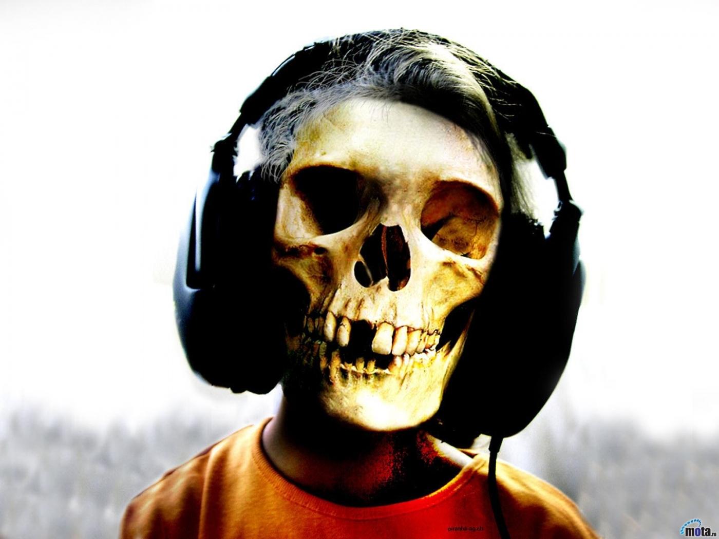 23442 Заставки и Обои Смерть на телефон. Скачать Смерть, Скелеты, Музыка, Наушники картинки бесплатно