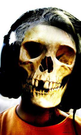 23442 descargar fondo de pantalla Música, Muerte, Auriculares, Esqueletos: protectores de pantalla e imágenes gratis