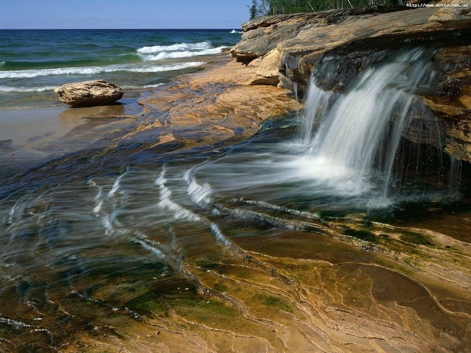 2045 скачать обои Пейзаж, Вода, Камни, Водопады - заставки и картинки бесплатно