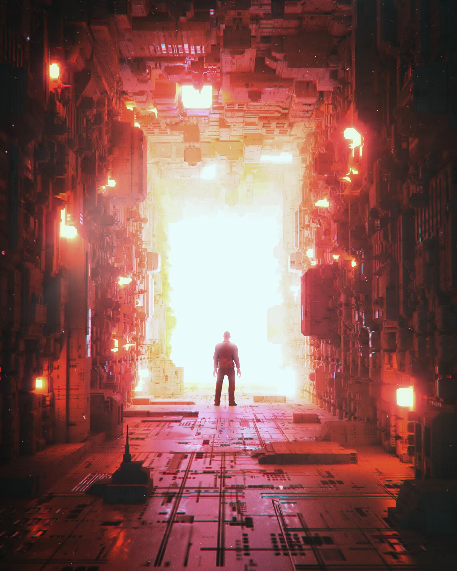 免费下载明亮, 明亮的, 隧道, 轮廓, 剪影, 艺术, 闪耀, 光手机壁纸。