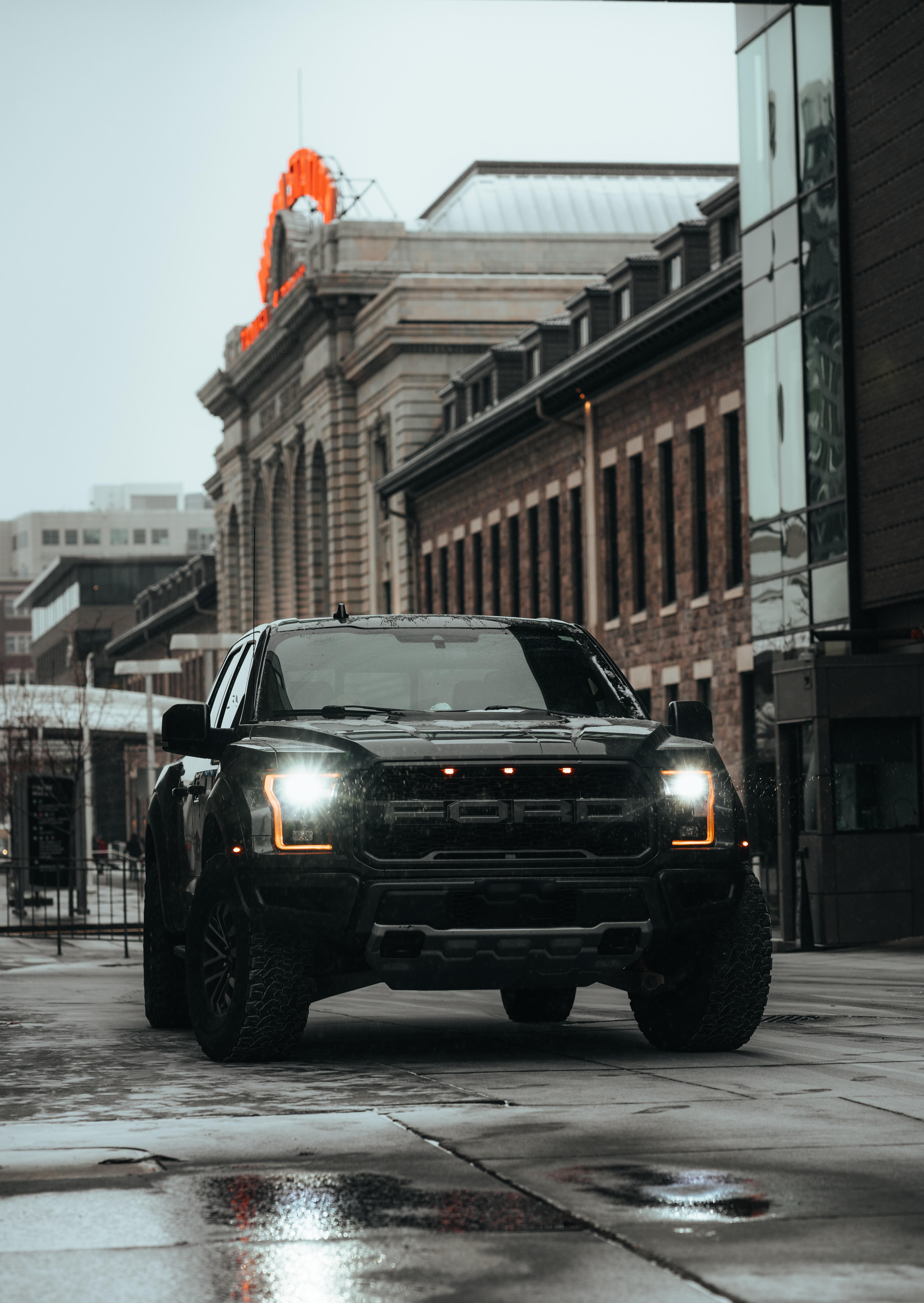 92318 Hintergrundbild herunterladen Ford, Auto, Cars, Straße, Wagen, Das Schwarze, Suv, Ford-Raptor, Ford Raptor - Bildschirmschoner und Bilder kostenlos