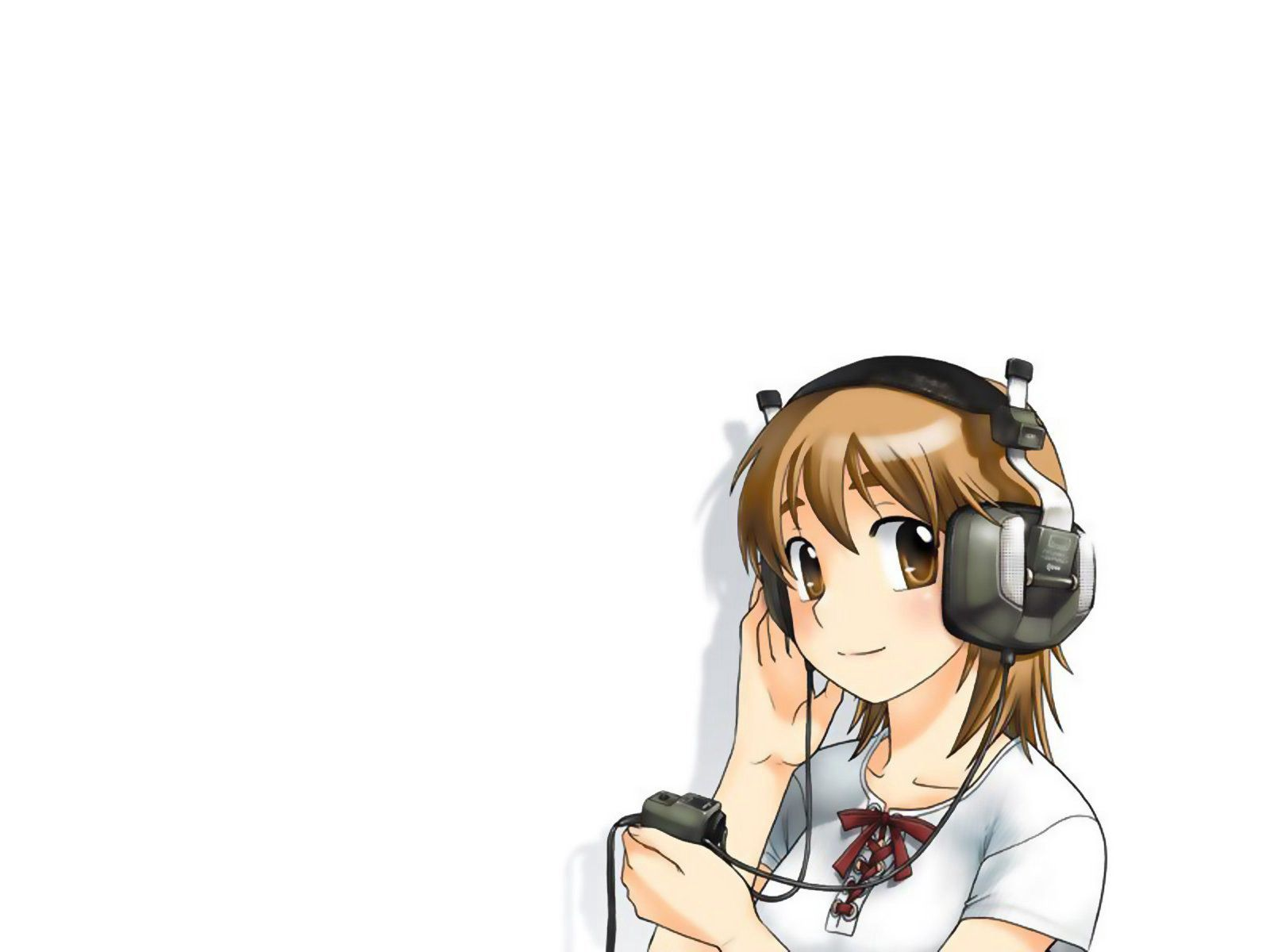 126151 Screensavers and Wallpapers Pretty for phone. Download Anime, Headphones, Smile, Girl, Pretty pictures for free