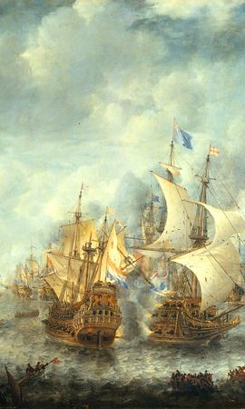 1970 download wallpaper Landscape, Sky, Art, Ships, Sea screensavers and pictures for free