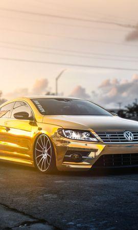 51485 Screensavers and Wallpapers Volkswagen for phone. Download Cars, Volkswagen, Passat, Cc, Golden, Fog pictures for free