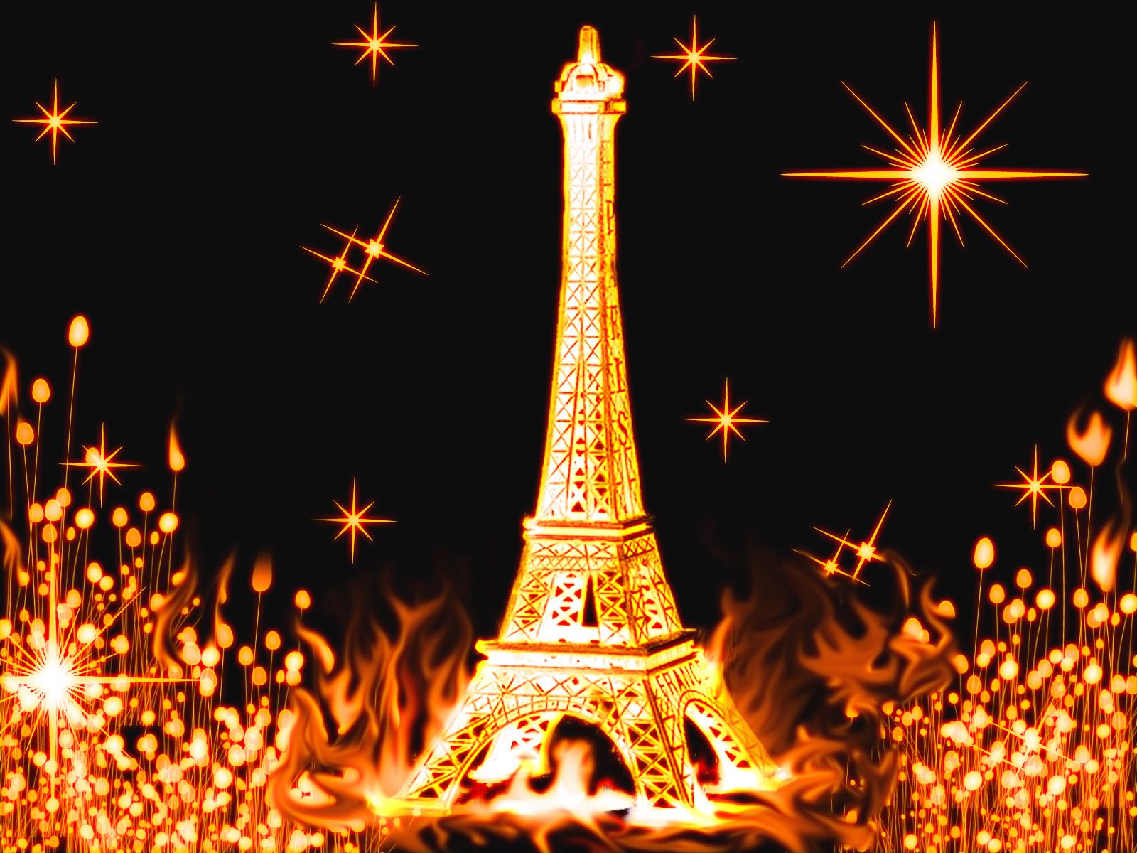 11304 скачать обои Арт, Звезды, Архитектура, Эйфелева Башня - заставки и картинки бесплатно