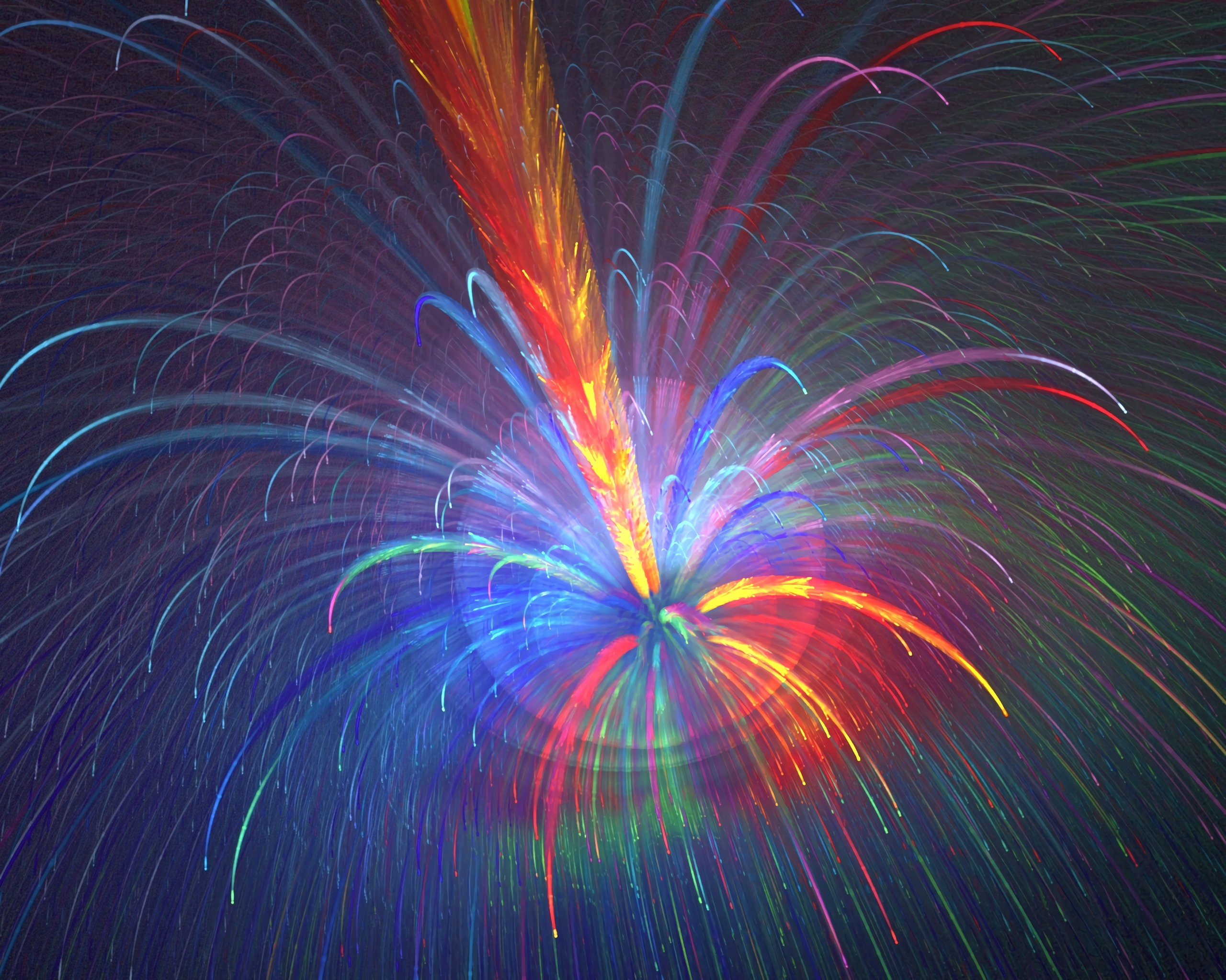 105318 download wallpaper Abstract, Fractal, Fireworks, Firework, Multicolored, Motley, Sparks screensavers and pictures for free