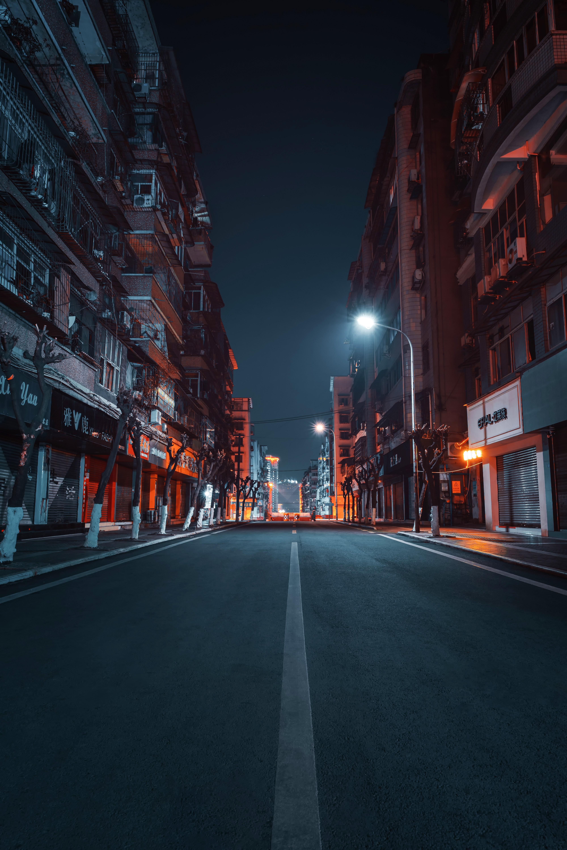 免費壁紙65254:路, 城市, 建造, 建筑物, 街道, 街, 夜 下載手機圖片