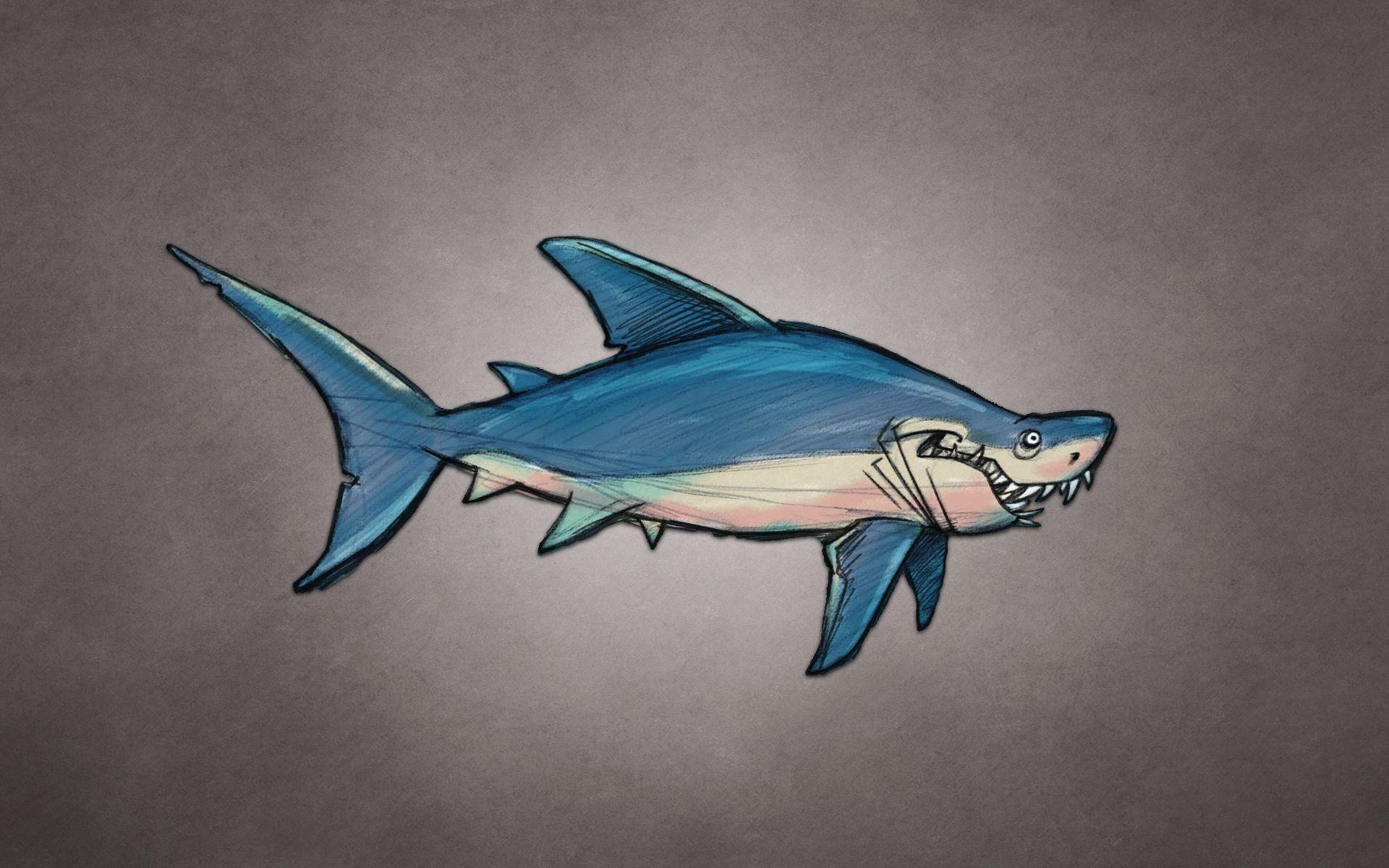 152452 free wallpaper 480x800 for phone, download images Art, Predator, Fish, Shark 480x800 for mobile