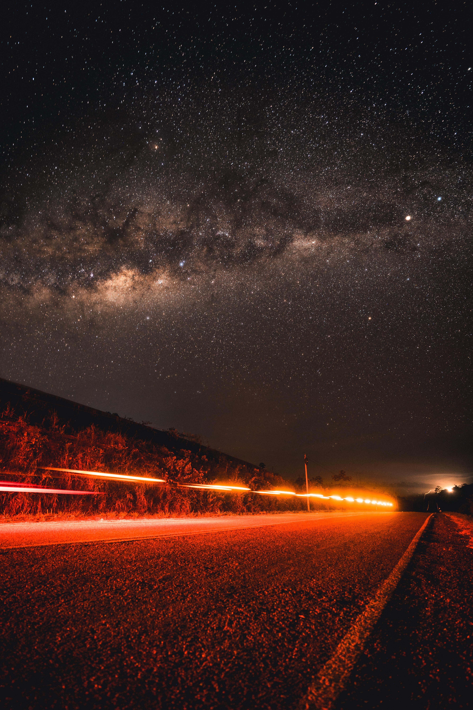133738 descargar fondo de pantalla Naturaleza, Camino, Cielo Estrellado, Noche, Dirección: protectores de pantalla e imágenes gratis