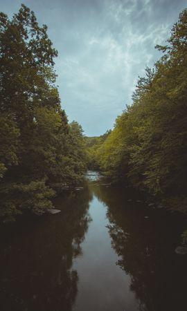 154023 скачать обои Река, Деревья, Вода, Природа, Пейзаж - заставки и картинки бесплатно
