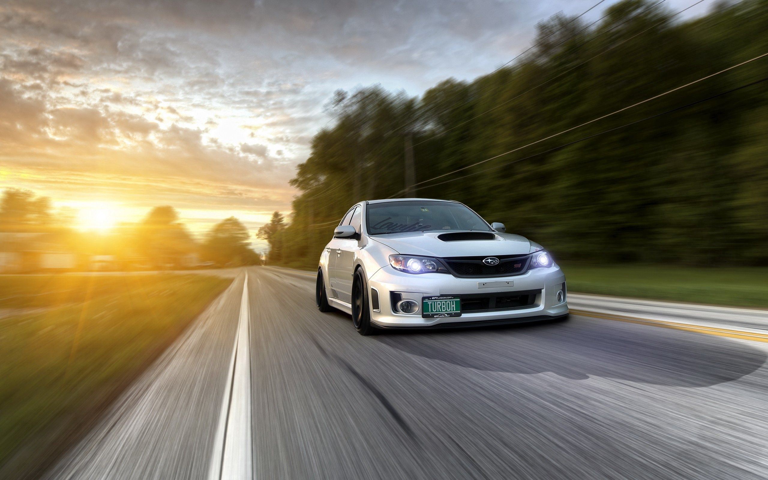 135276 descargar fondo de pantalla Coches, Subaru Impreza Wrx, Tráfico, Movimiento, Automóvil, Camino: protectores de pantalla e imágenes gratis