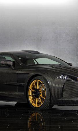 60799 télécharger le fond d'écran Voitures, Mansoire, Cyrus, Aston Martin Db9, Le Noir, Vue De Côté - économiseurs d'écran et images gratuitement