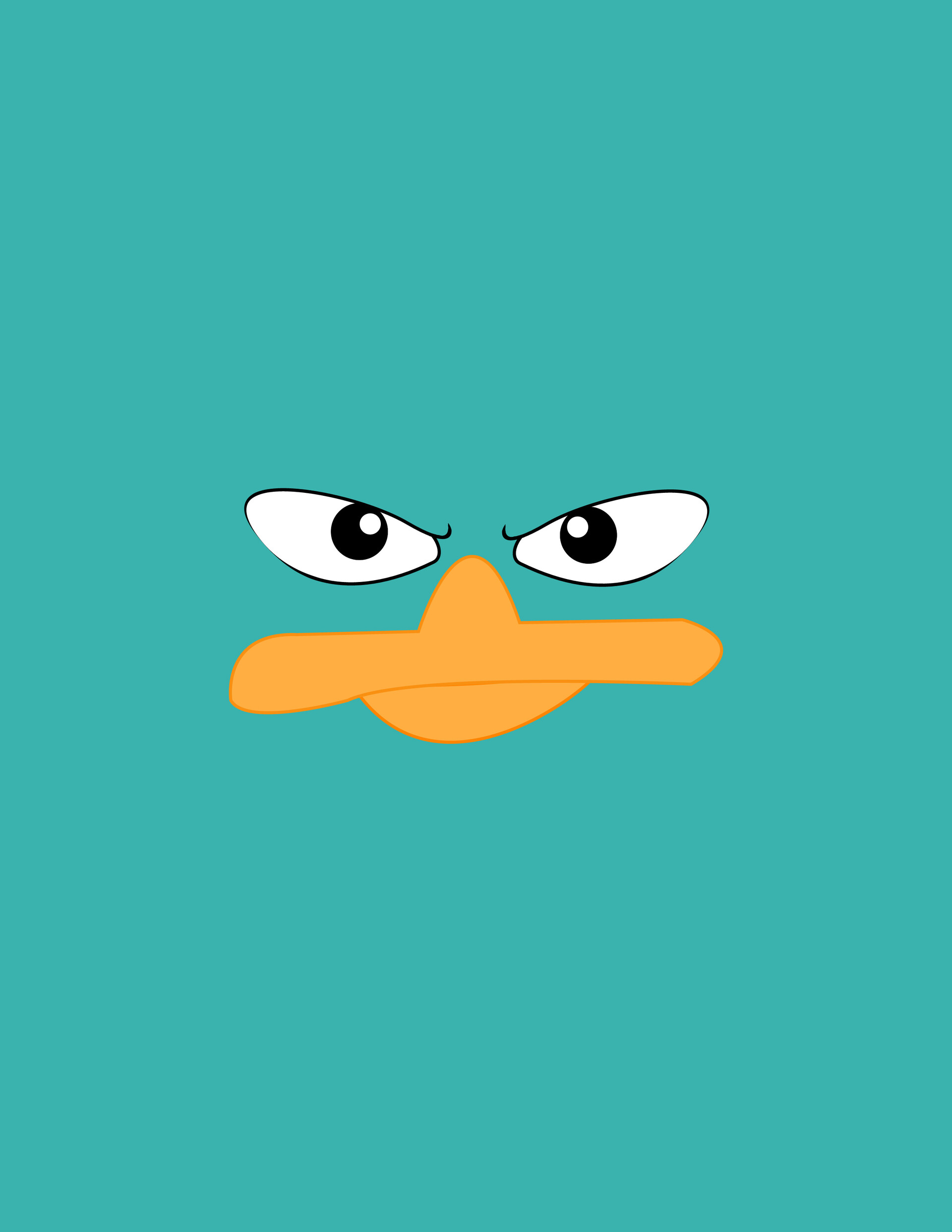 94981 download wallpaper Vector, Duck, Muzzle, Beak, Eyes screensavers and pictures for free