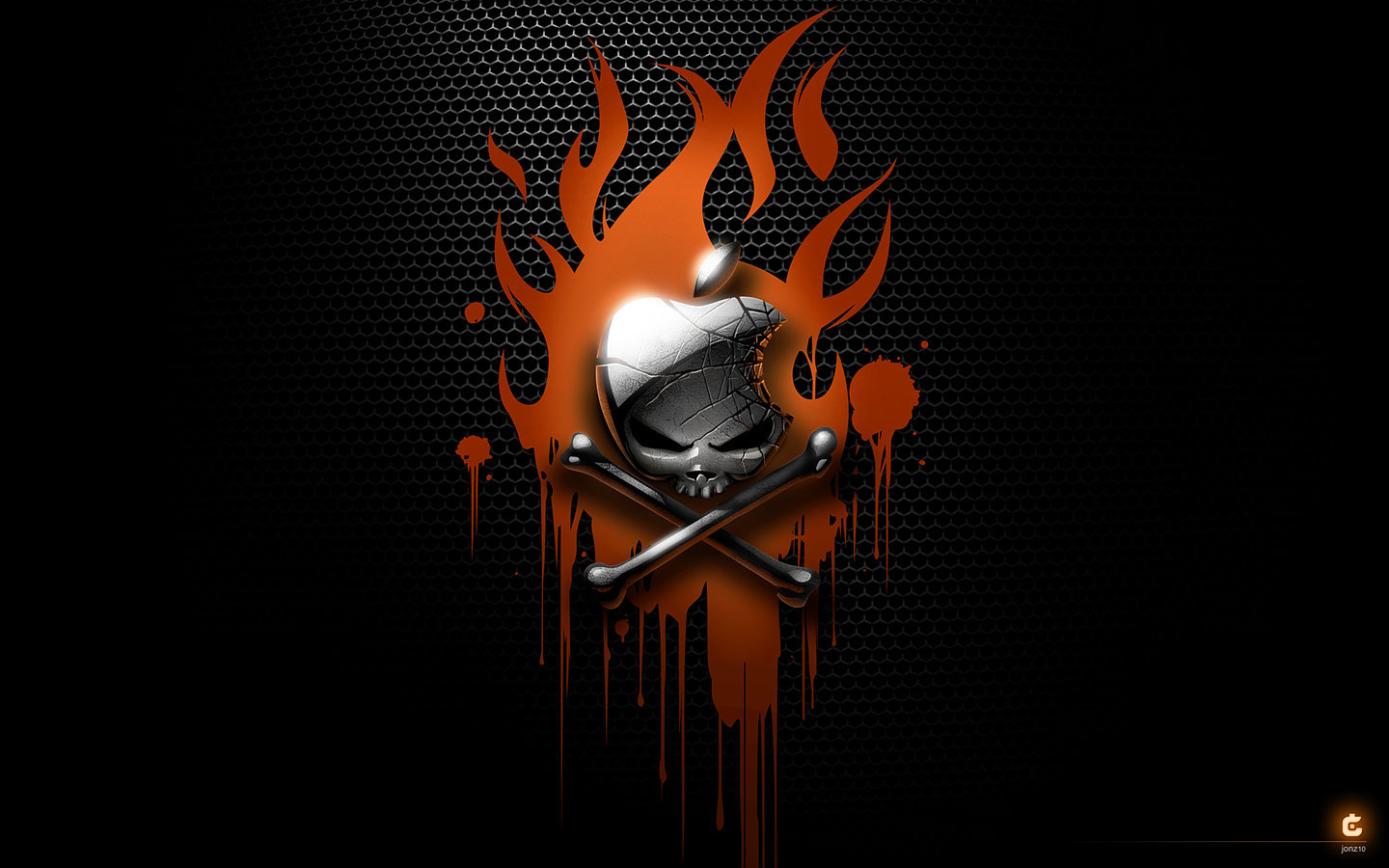 19549 download wallpaper Apple, Background, Brands, Funny, Skeletons screensavers and pictures for free