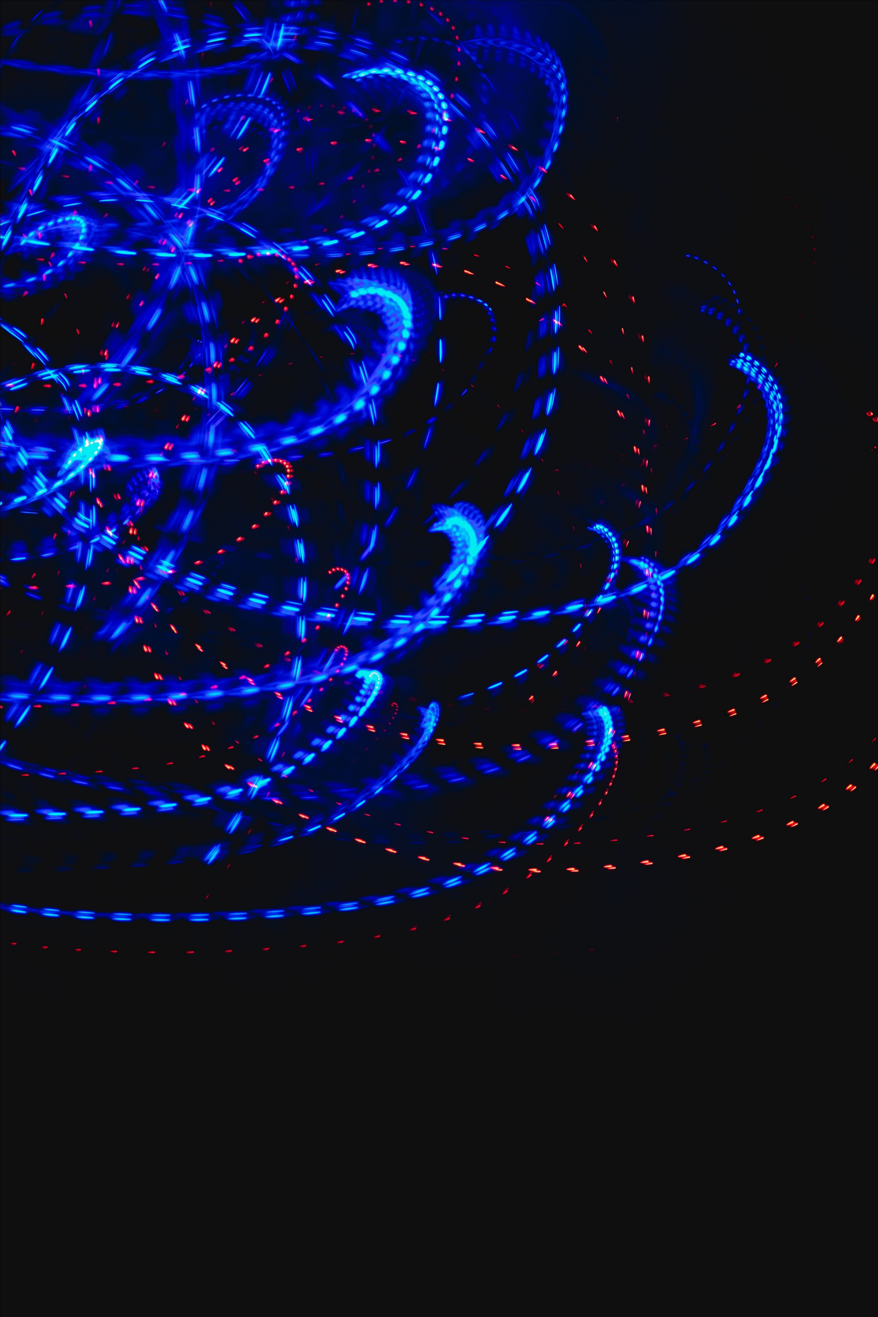 102222 download wallpaper Abstract, Lines, Wavy, Intermittent, Neon, Glow screensavers and pictures for free